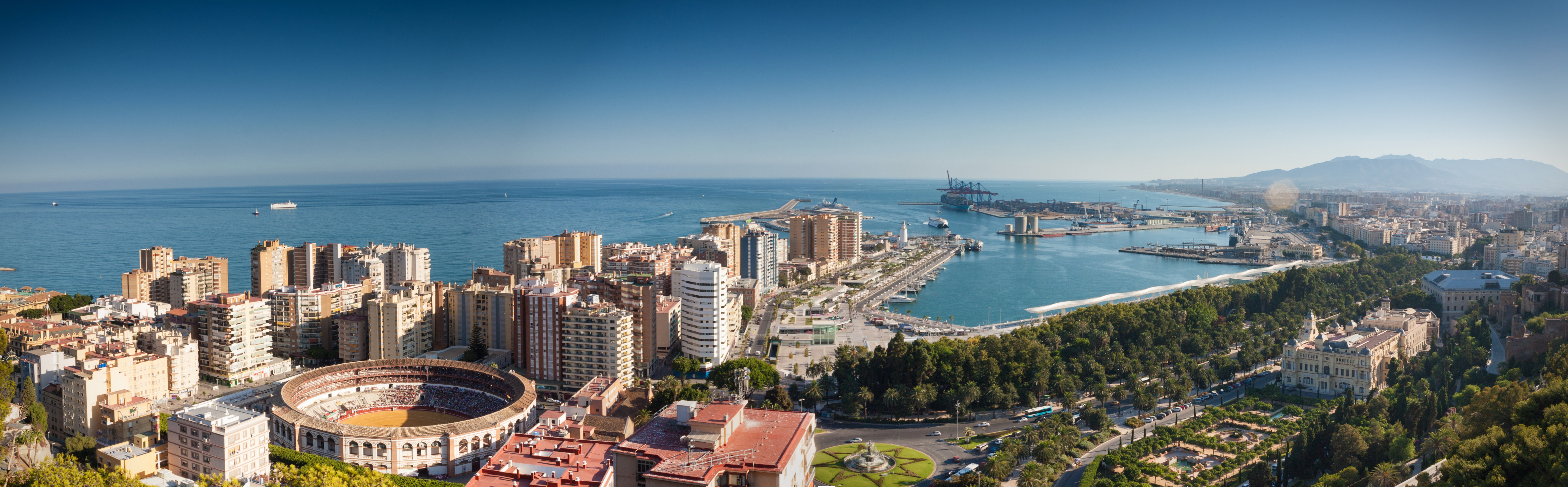 cityscape and landscape in malaga spain image free stock photo public domain photo cc0 images. Black Bedroom Furniture Sets. Home Design Ideas