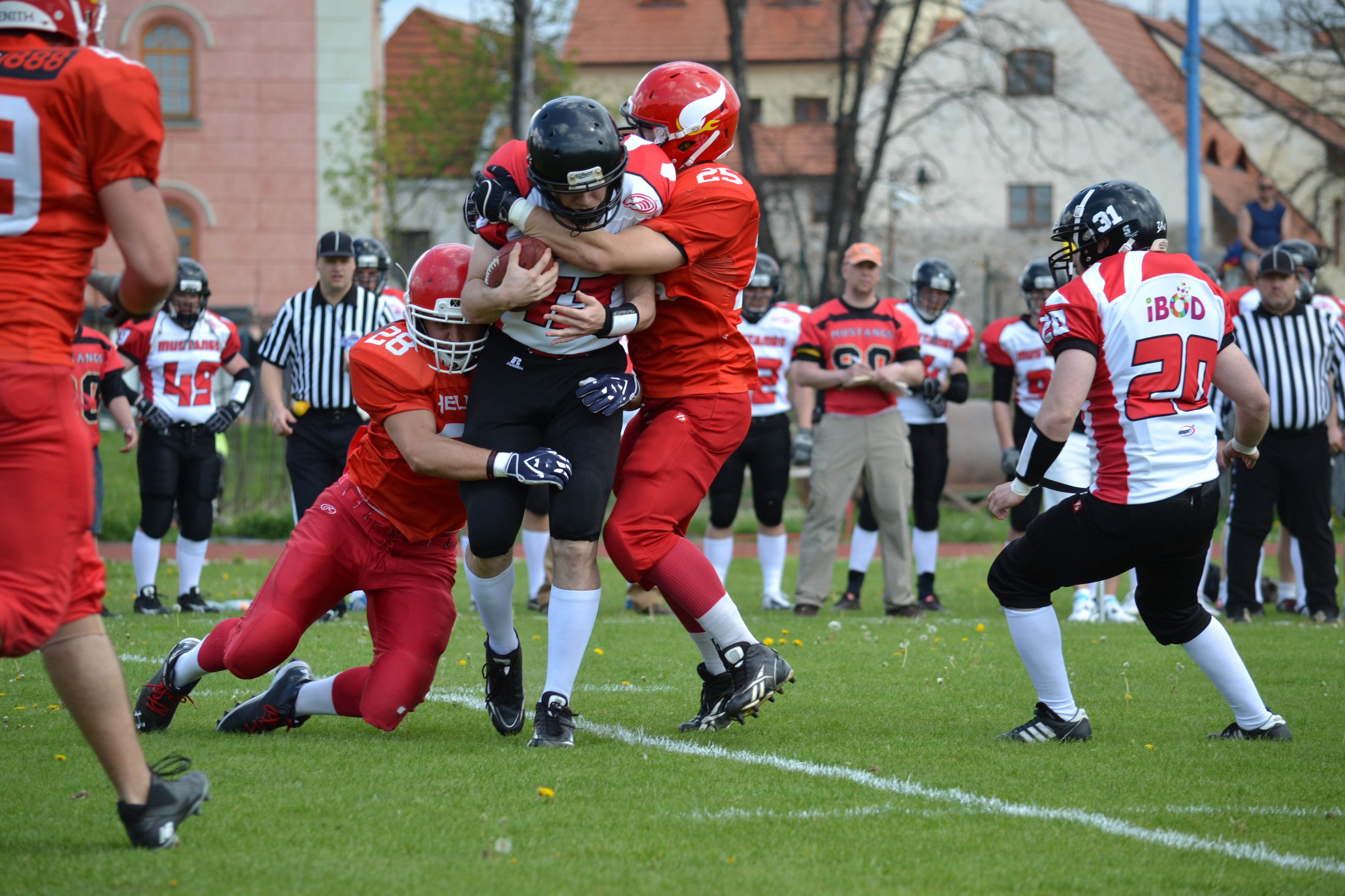 Kids playing American Football image - Free stock photo ...