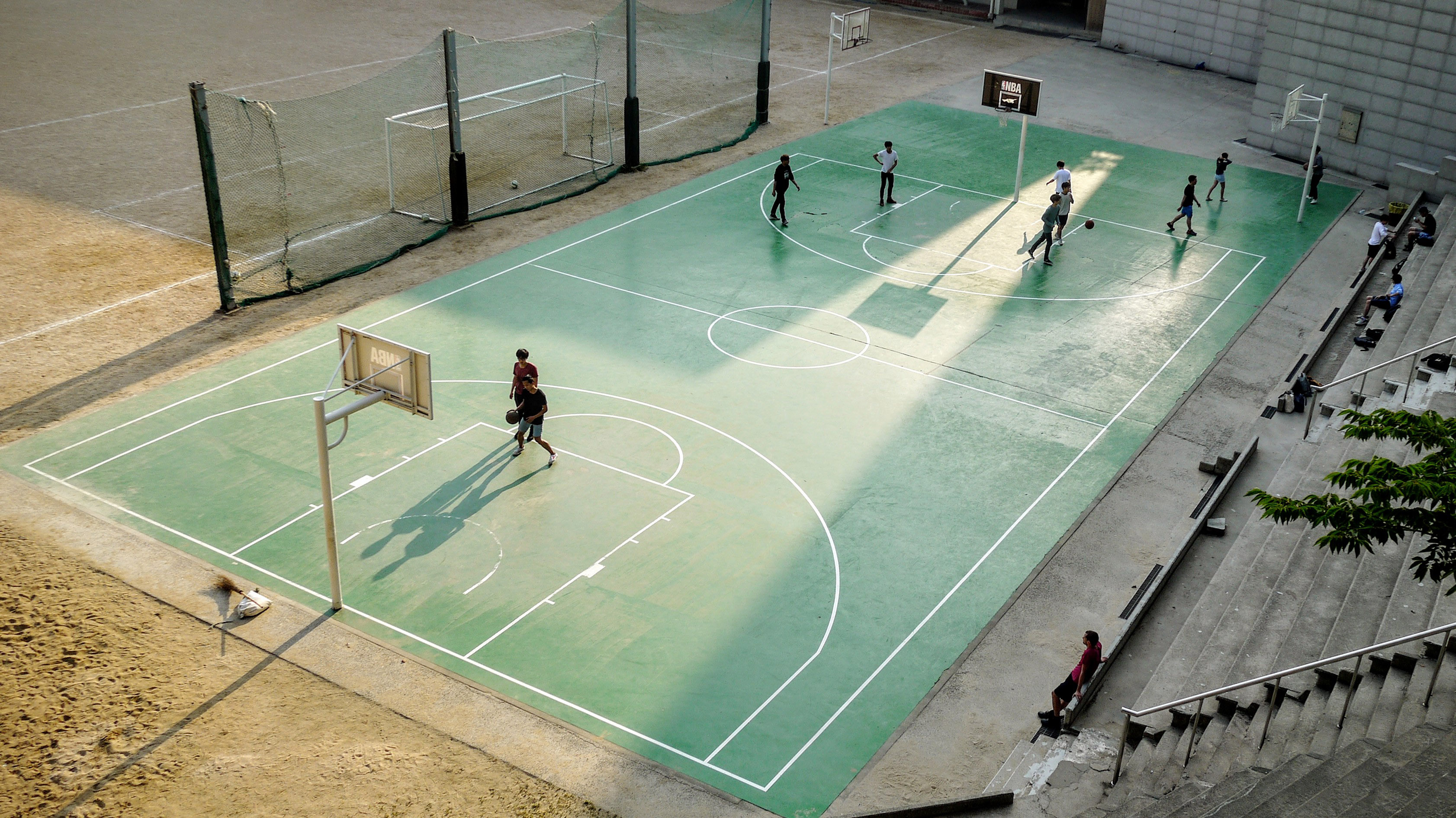 People On Basketball Court Image Free Stock Photo