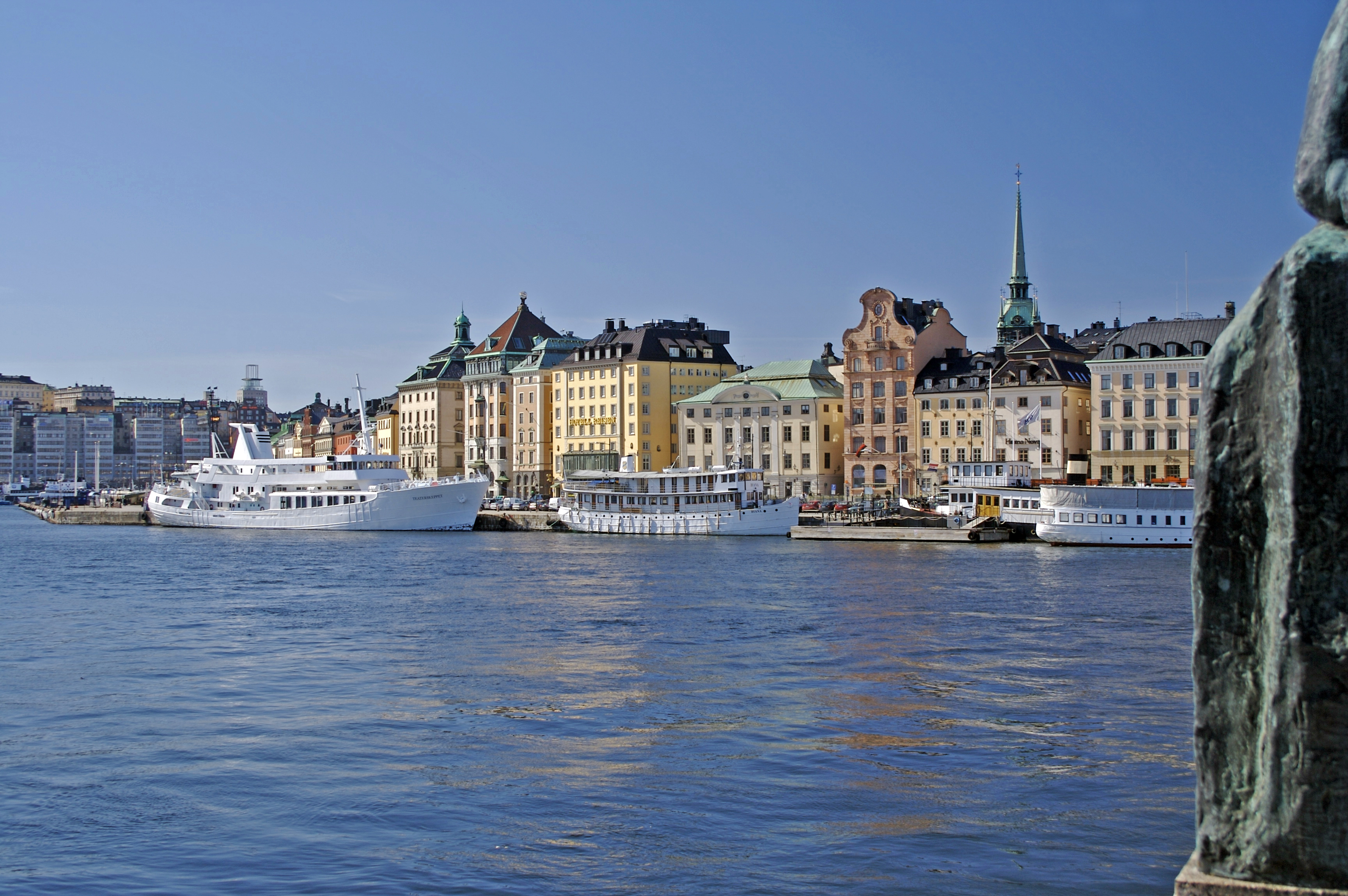 stockholm across the water image - free stock photo - public domain photo