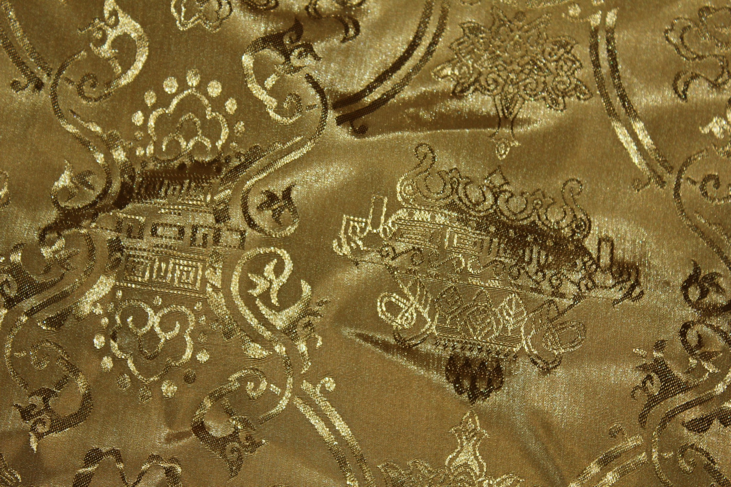 Outside Of A Chinese Fabric Texture Cloth Design