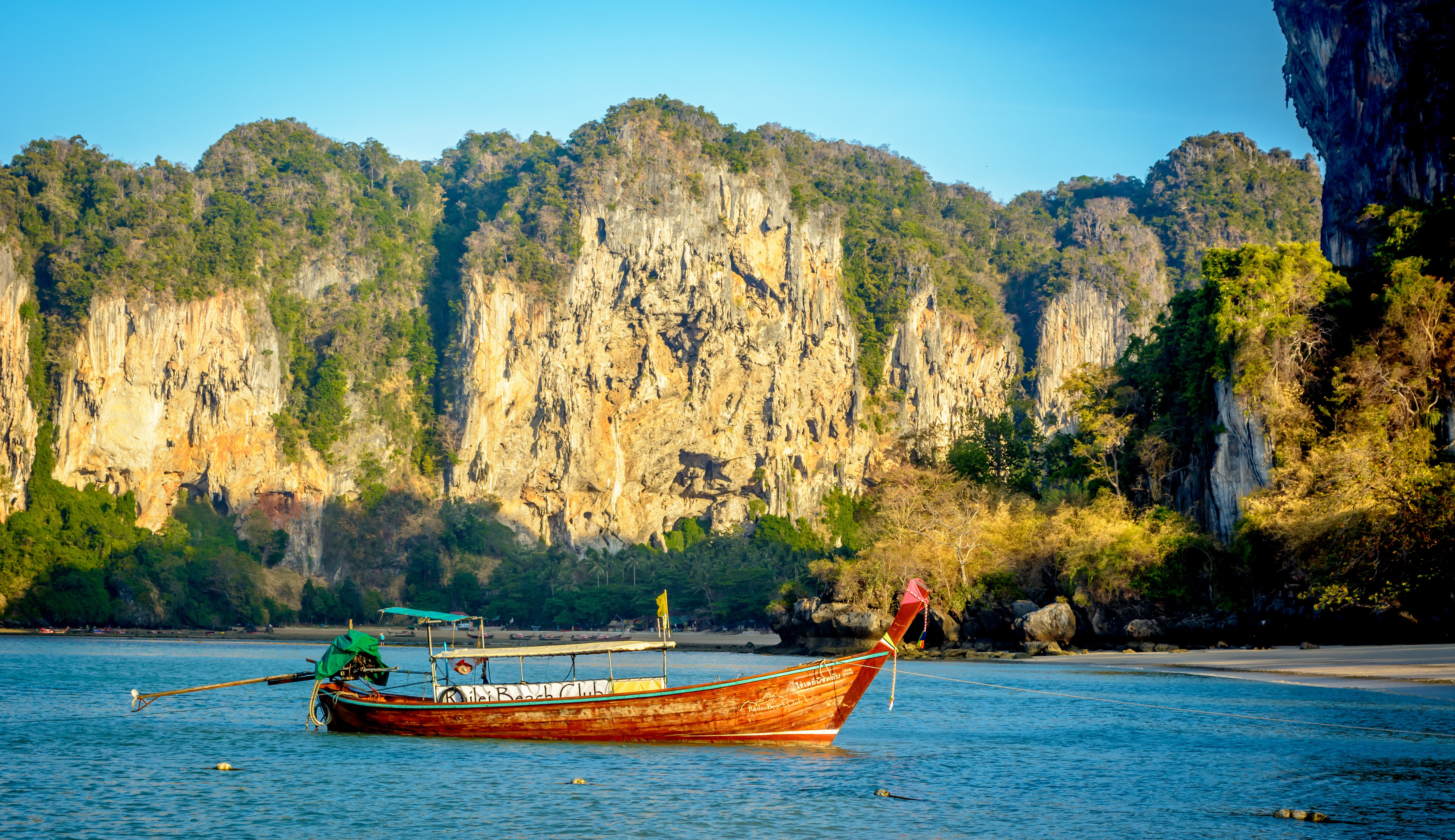 Sailing in the landscape of Thailand on the River image