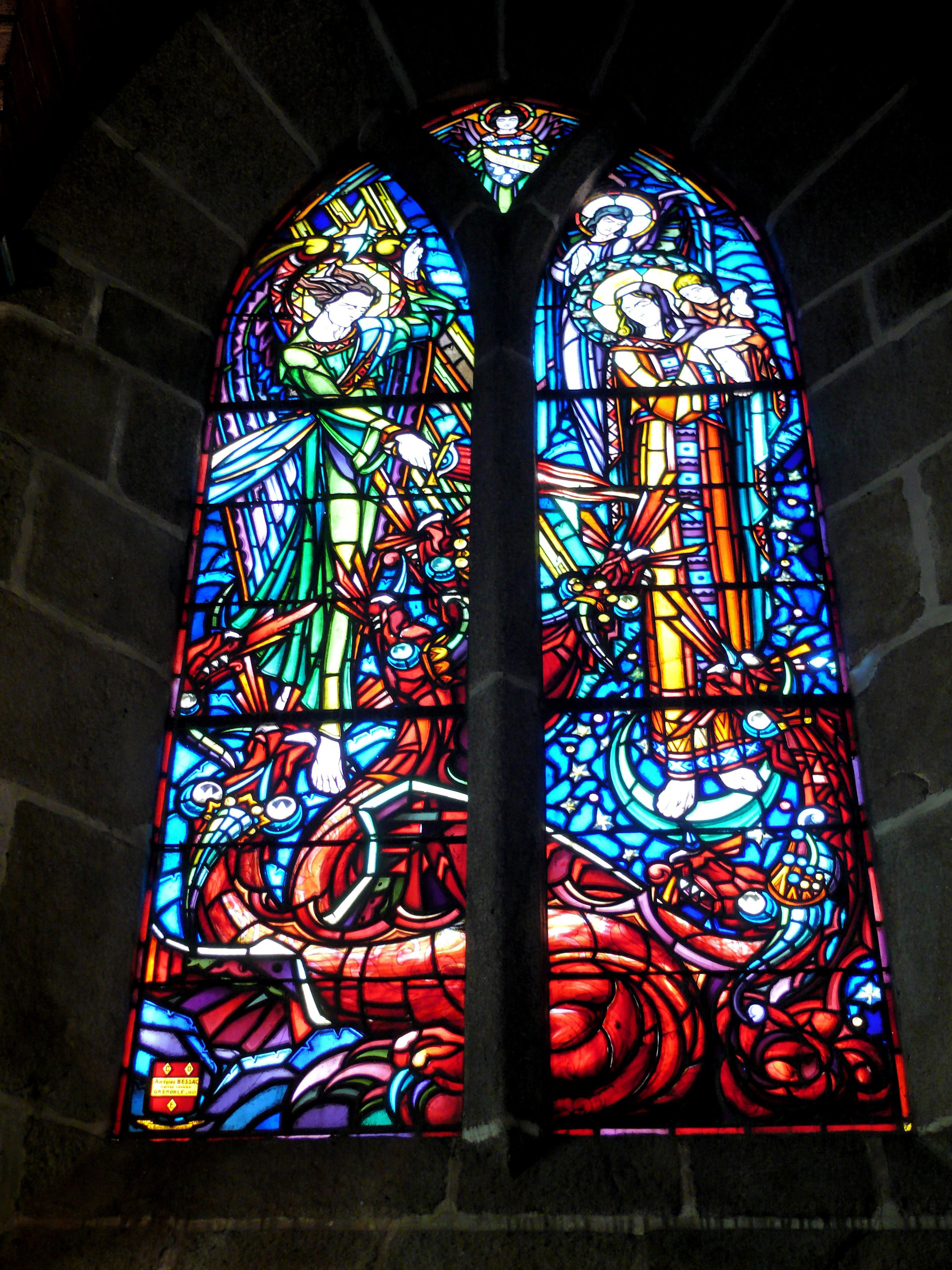 Window Pane Art In The Cathedral In Odessa Ukraine Image