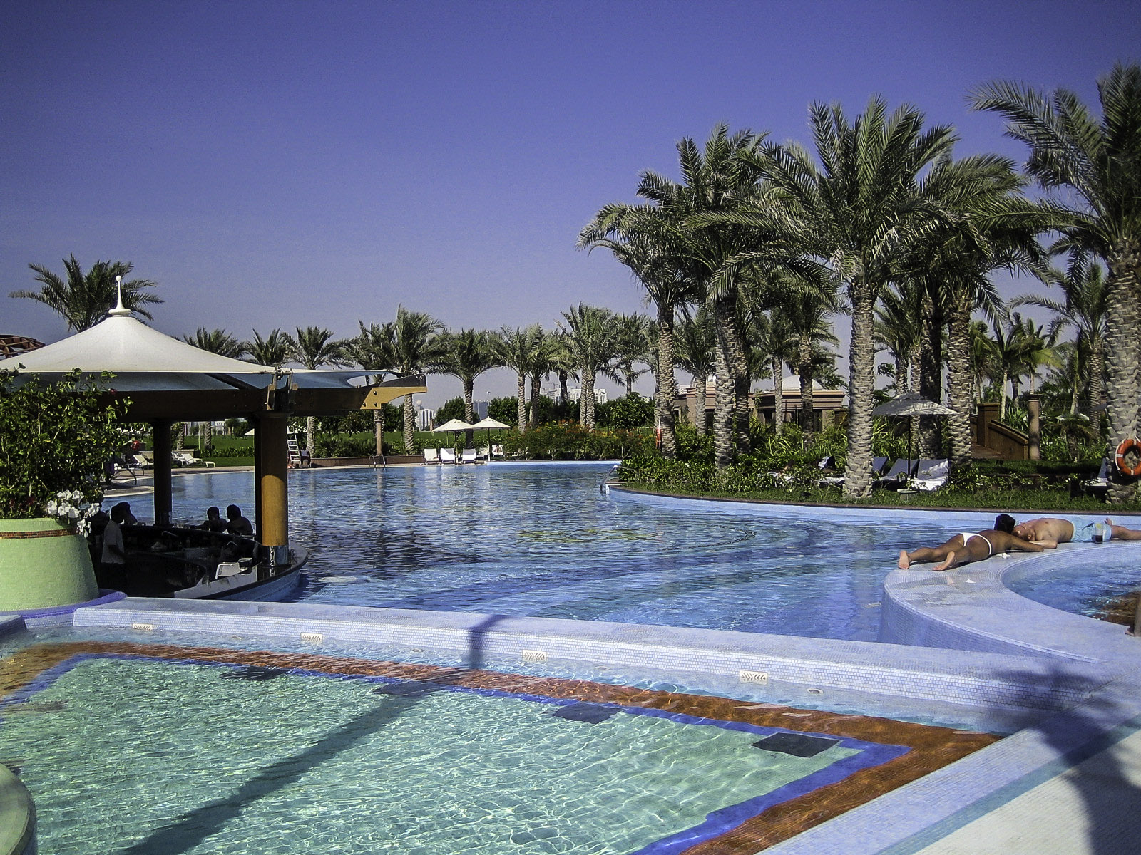 Emirate Palace Swimming Pool In Abu Dhabi United Arab Emirates Uae Image Free Stock Photo