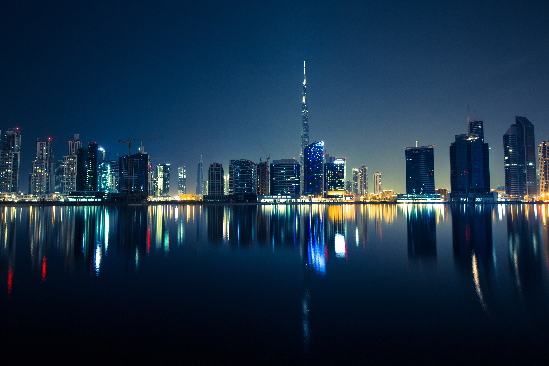 Night Skyline in Dubai, United Arab Emirates, UAE image ...