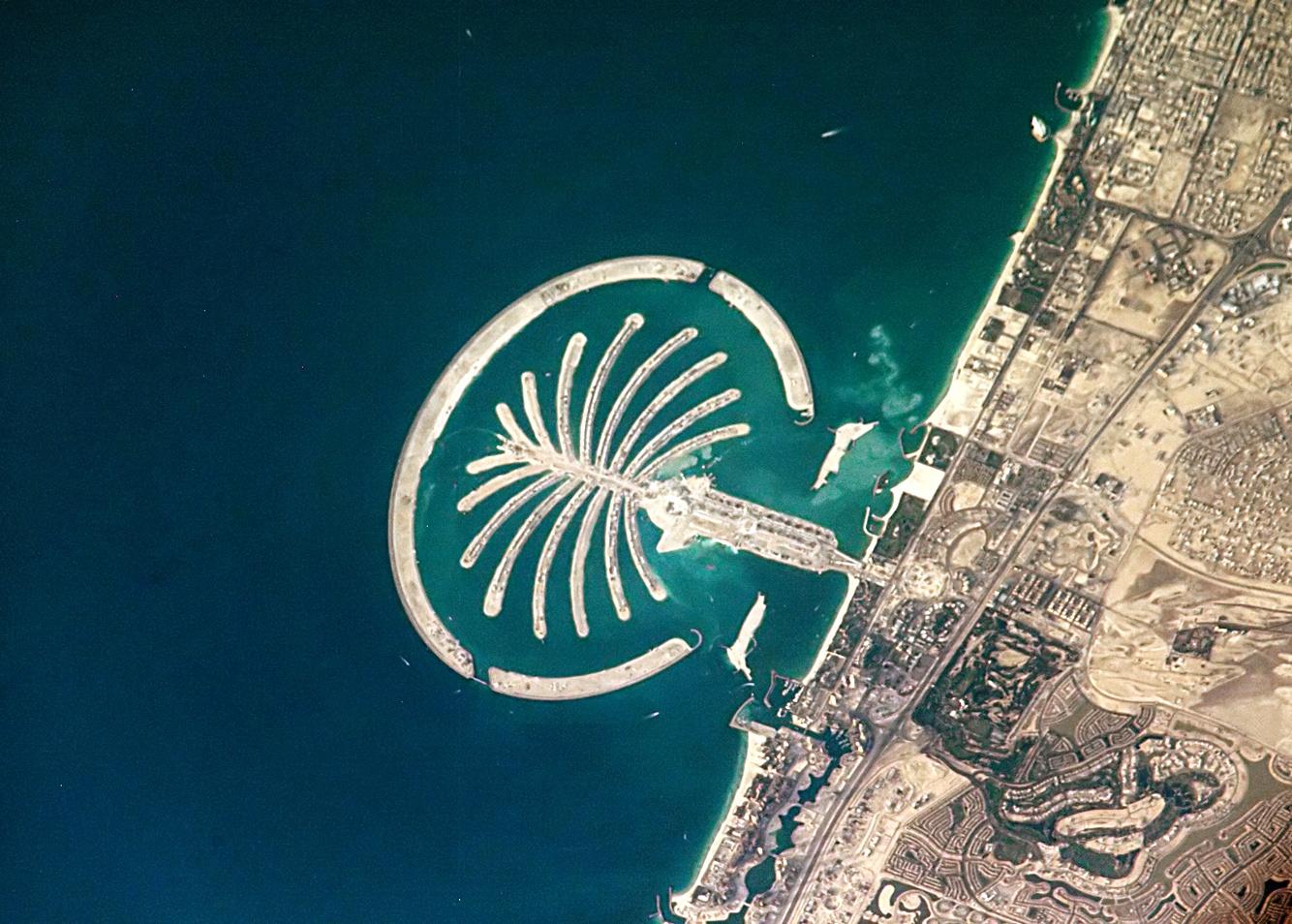 Aerial view of Palm Jumeirah