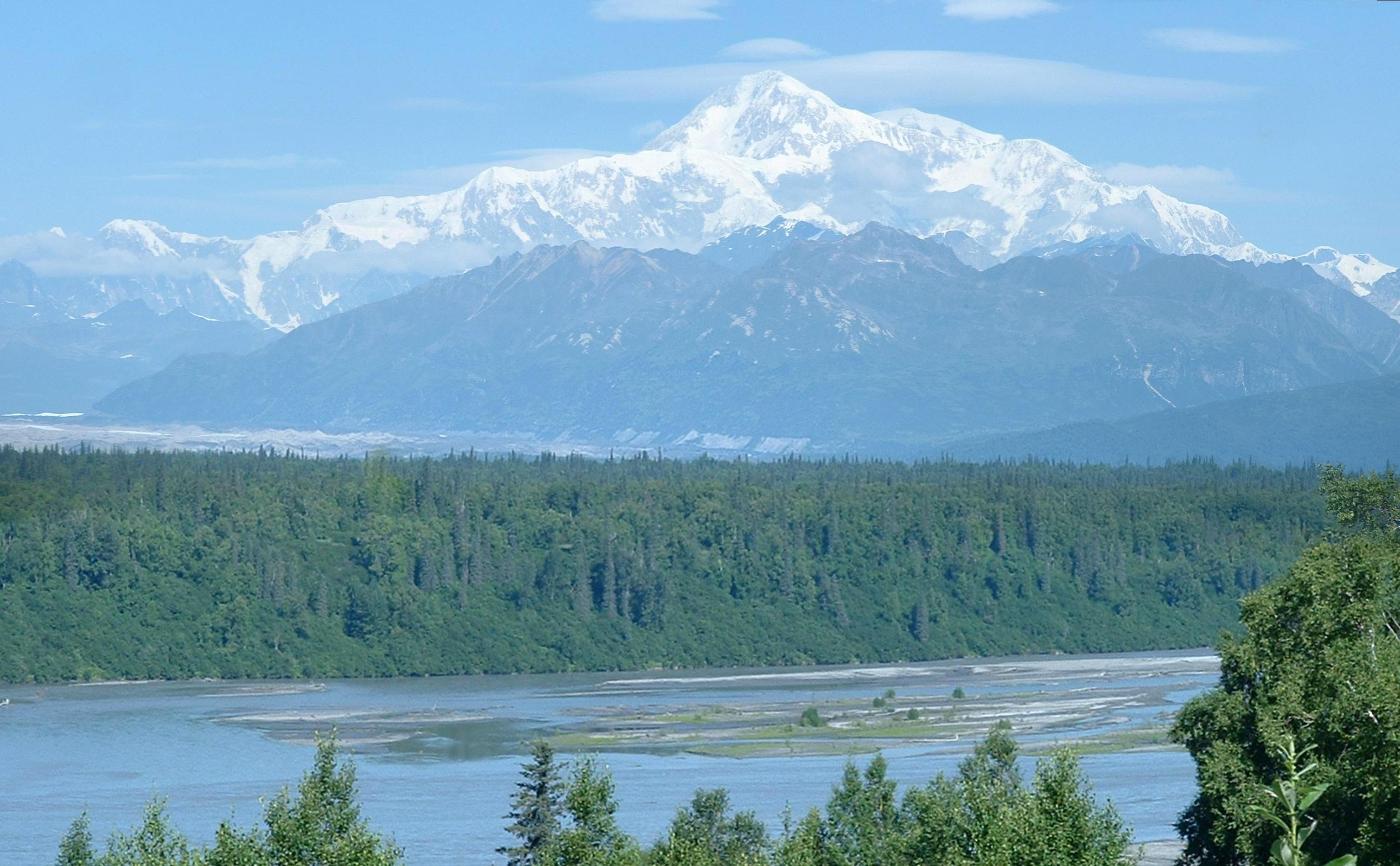 View Of Denali From Denali National Park Alaska Image