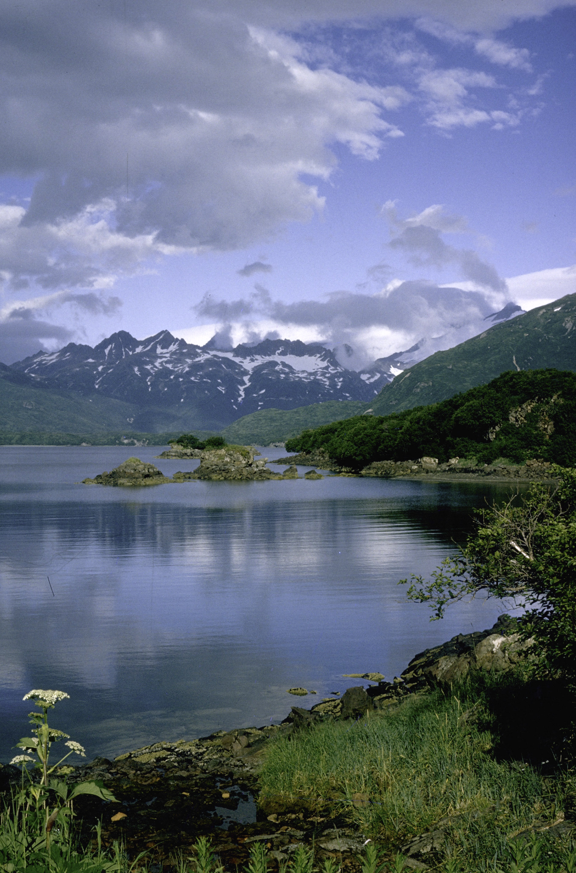 Free Stock Photo: Landscape Of The Mountains And Lake In Katmai National