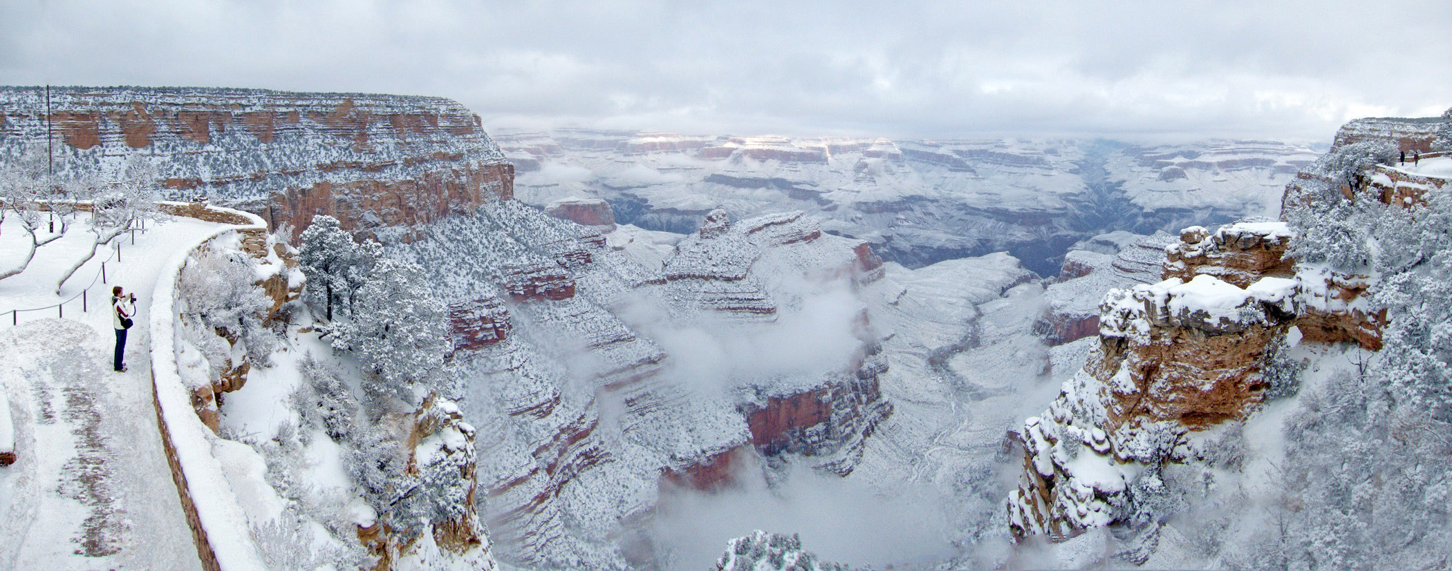 winter and snow in grand canyon national park arizona. Black Bedroom Furniture Sets. Home Design Ideas