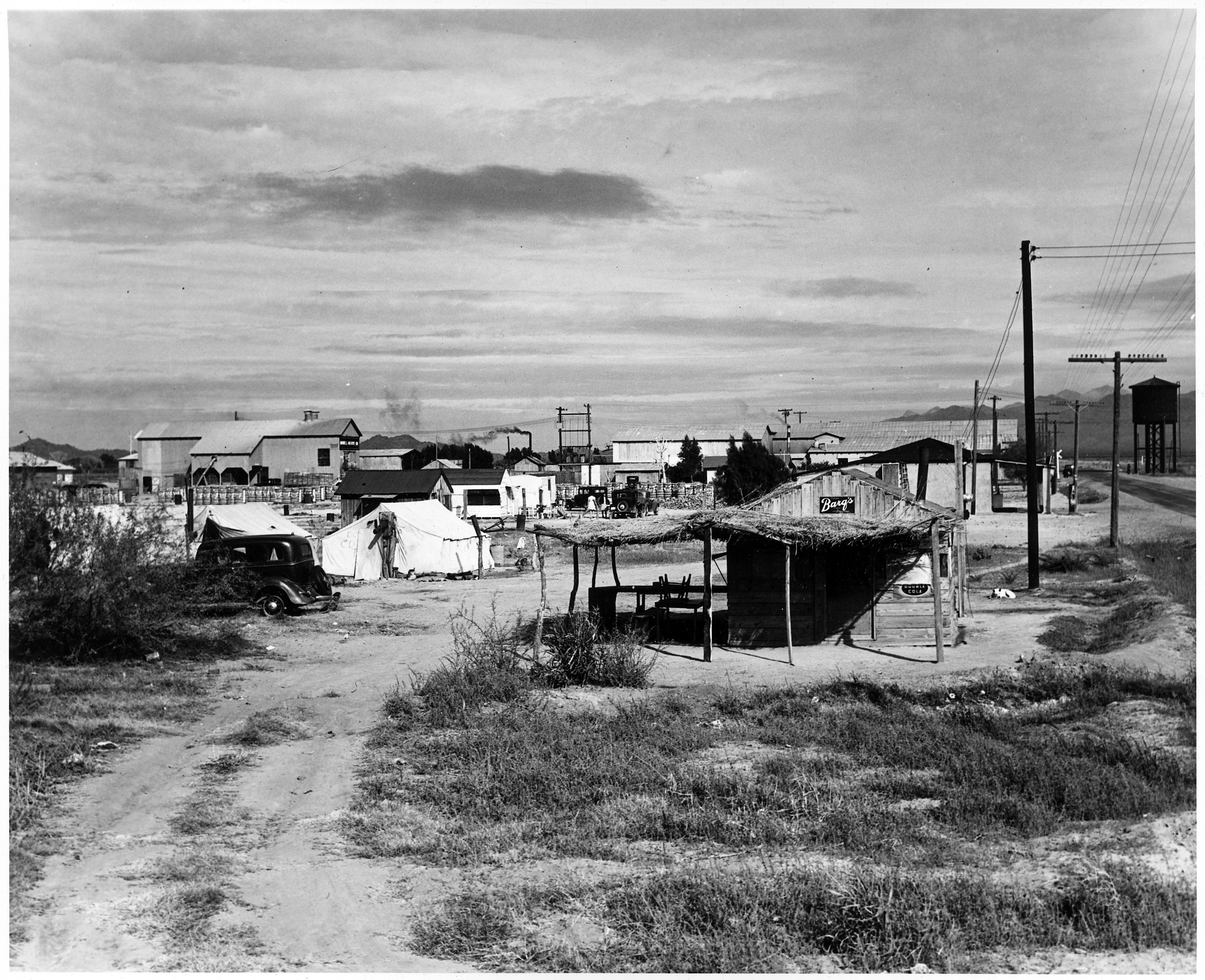 Private Auto Camp For Cotton Pickers In Buckeye 1940 In