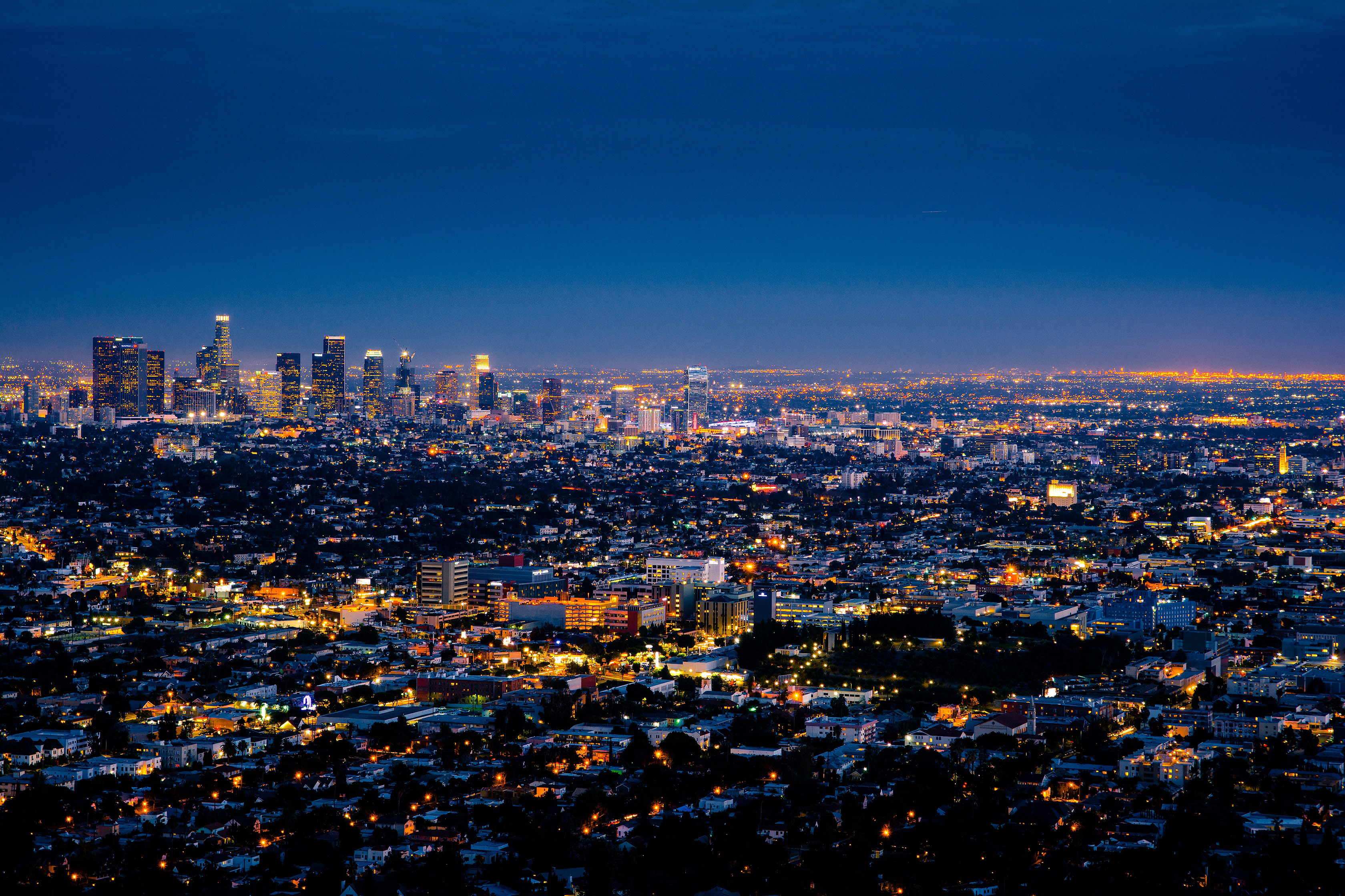 Free Stock Photo Of Night Lights In Los Angeles California And Cityscape Public Domain Photo