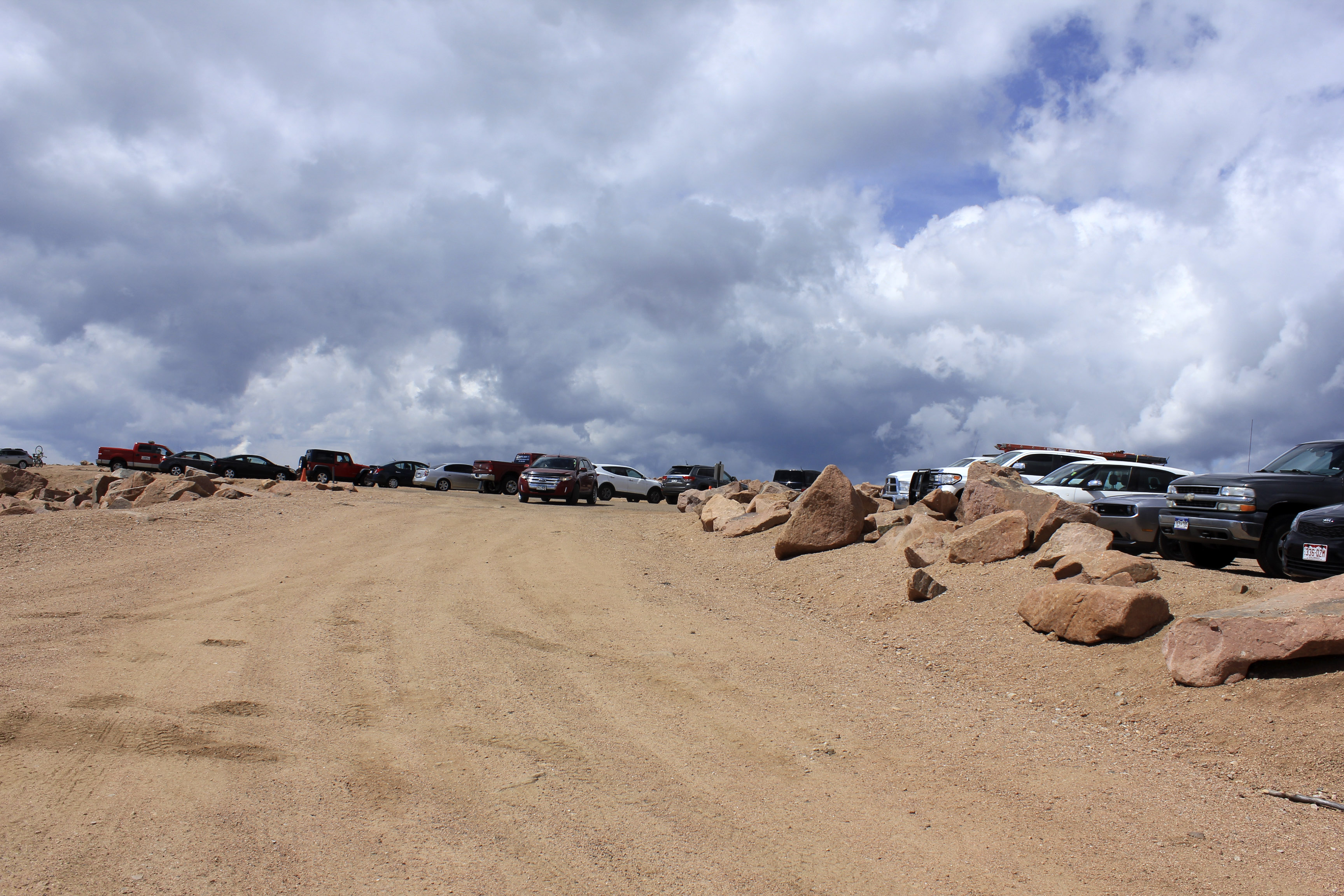 Pikes Peak Parking >> Parking Atop Pikes Peak Colorado Image Free Stock Photo