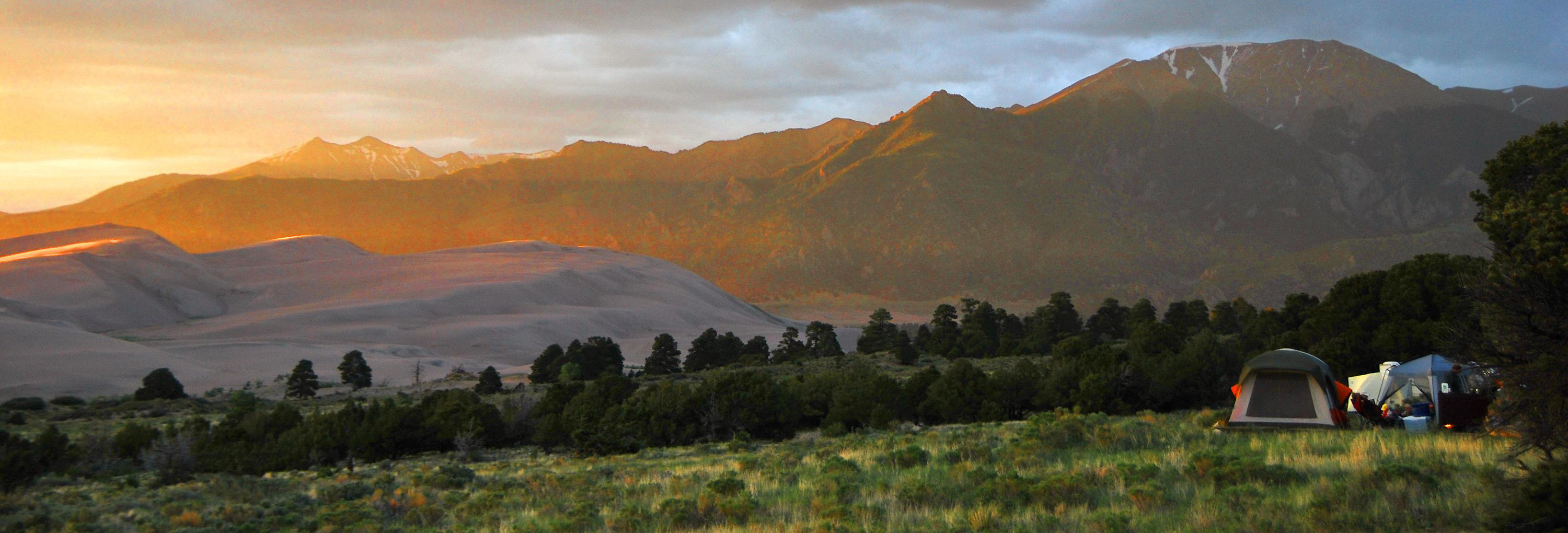 Sunrise Over The Hills In Great Sand Dunes National Park