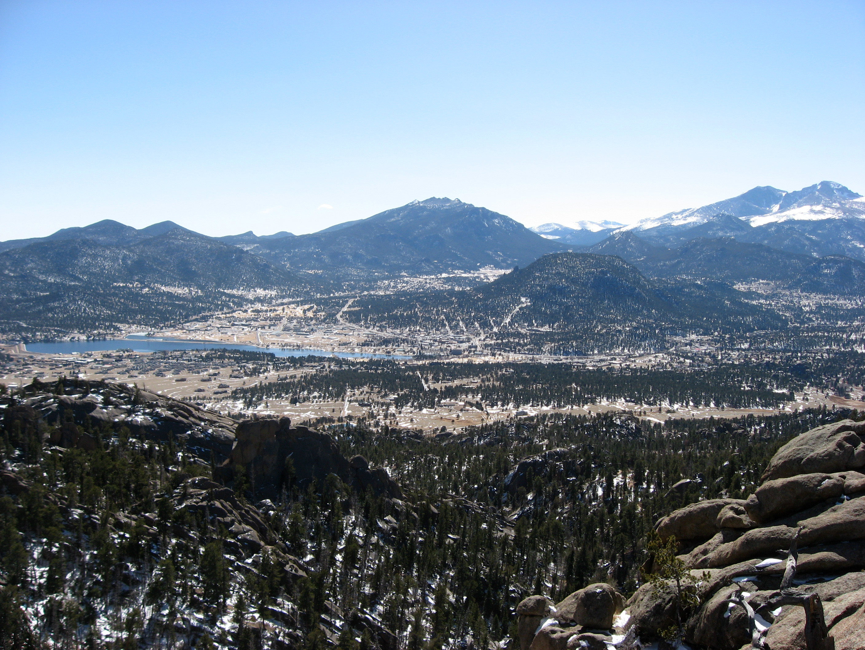 Panorama of Estes Park, Colorado image - Free stock photo ...