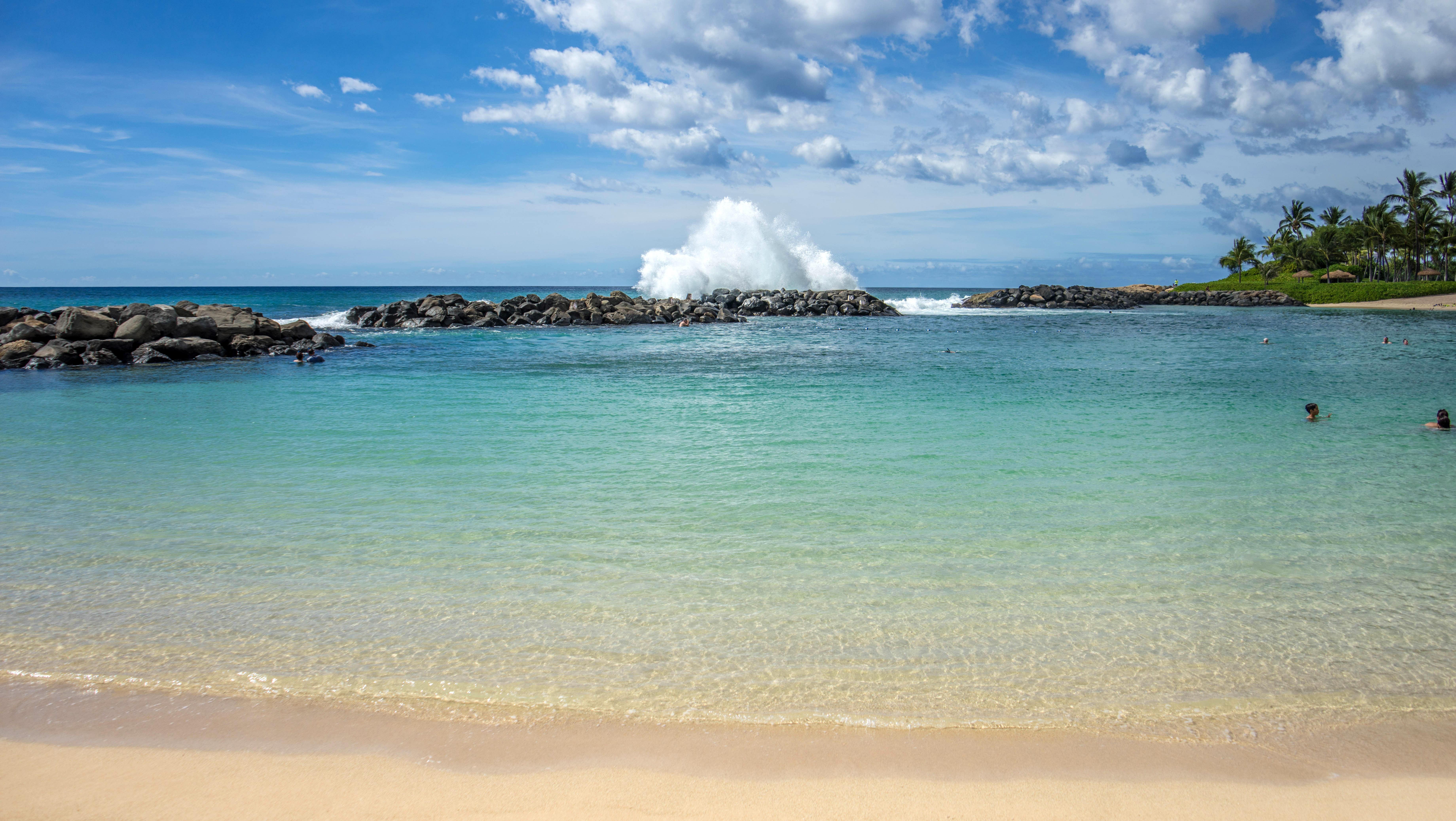 Beautiful Ocean Landscape In Ko Olina Hawaii Image Free