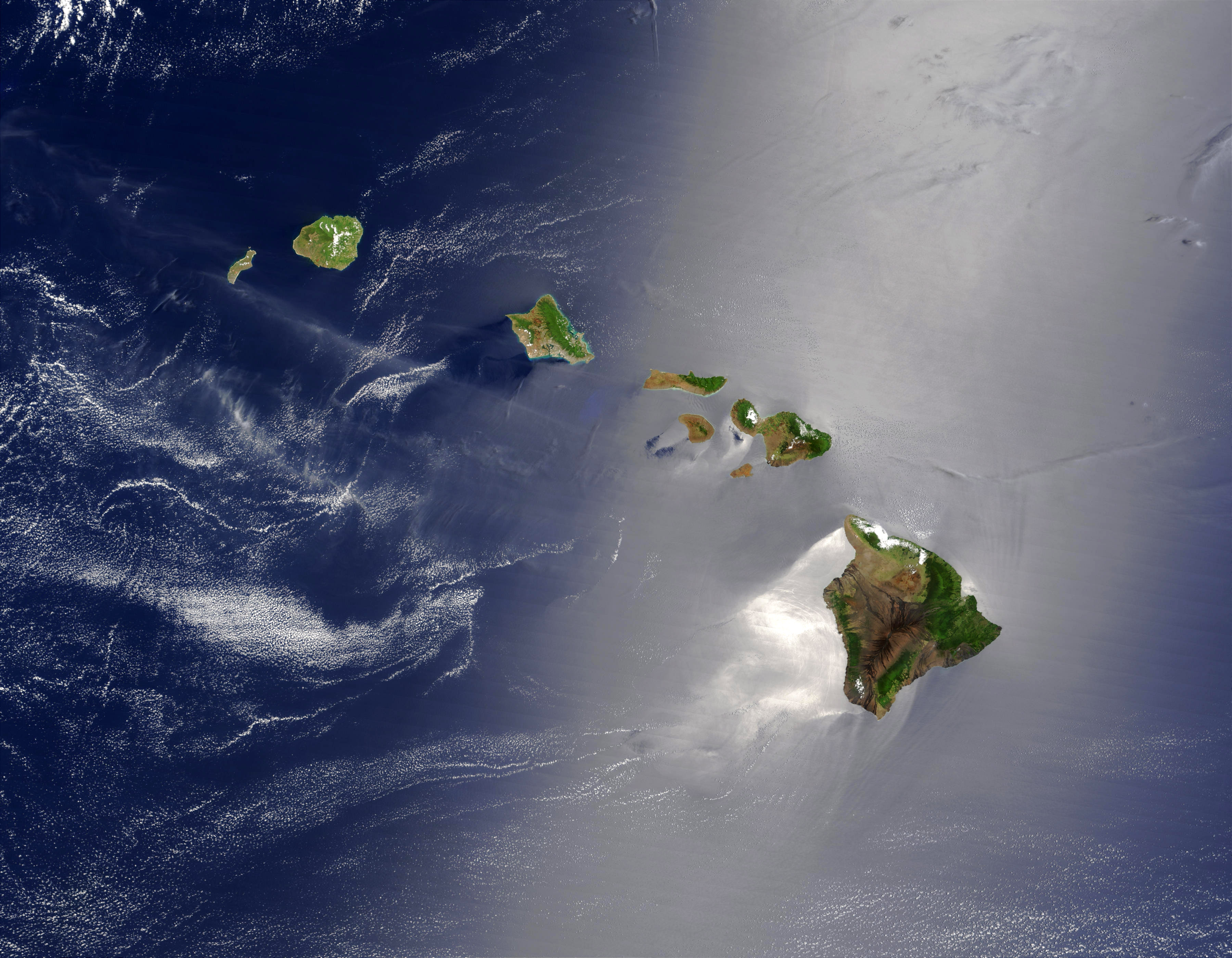 Free stock photo of true color of hawaii from space public true color of hawaii from space photo by nasa voltagebd Gallery