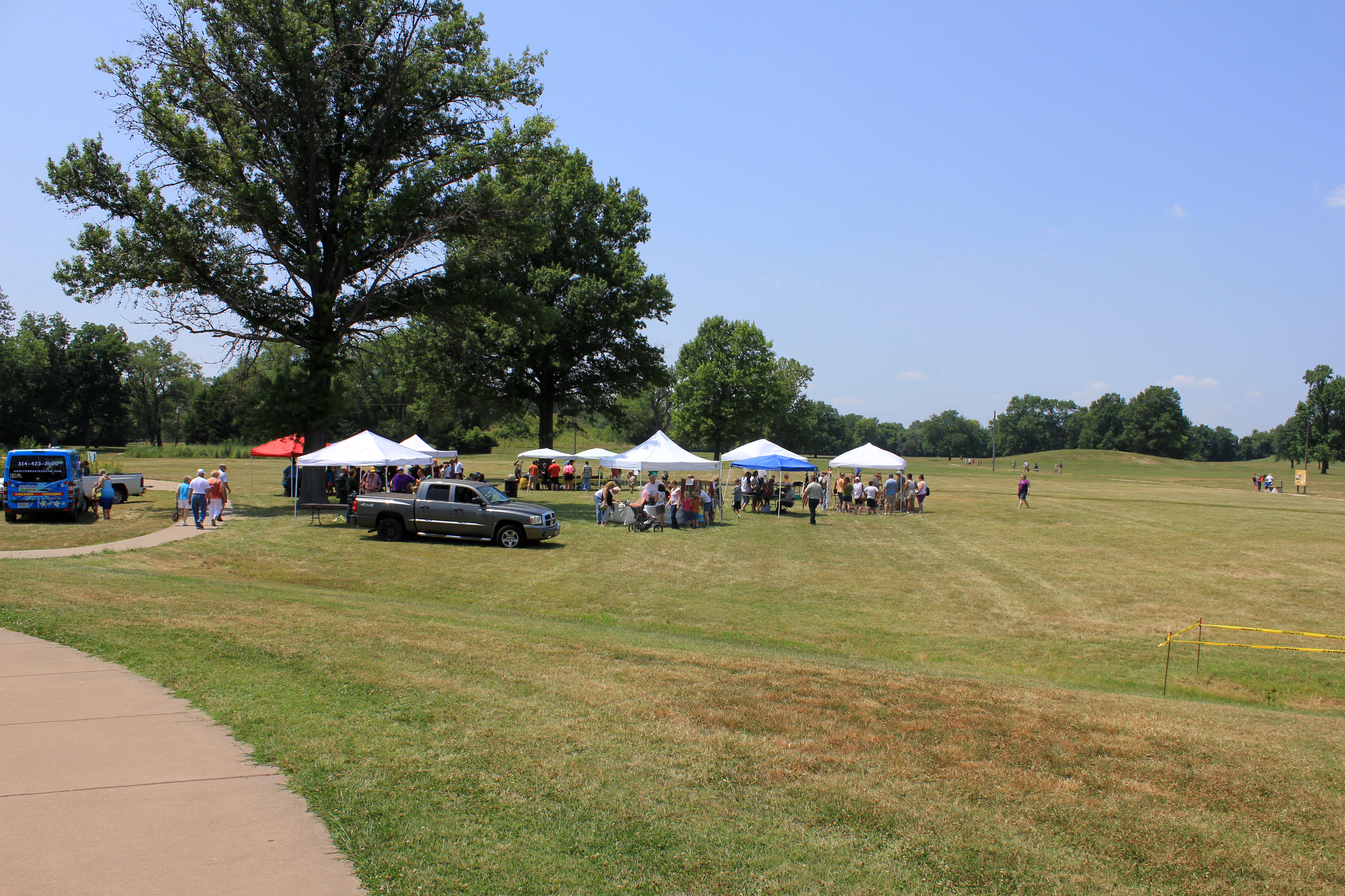 Tents on Archaeology Day at Cahokia Mounds, Illinois image