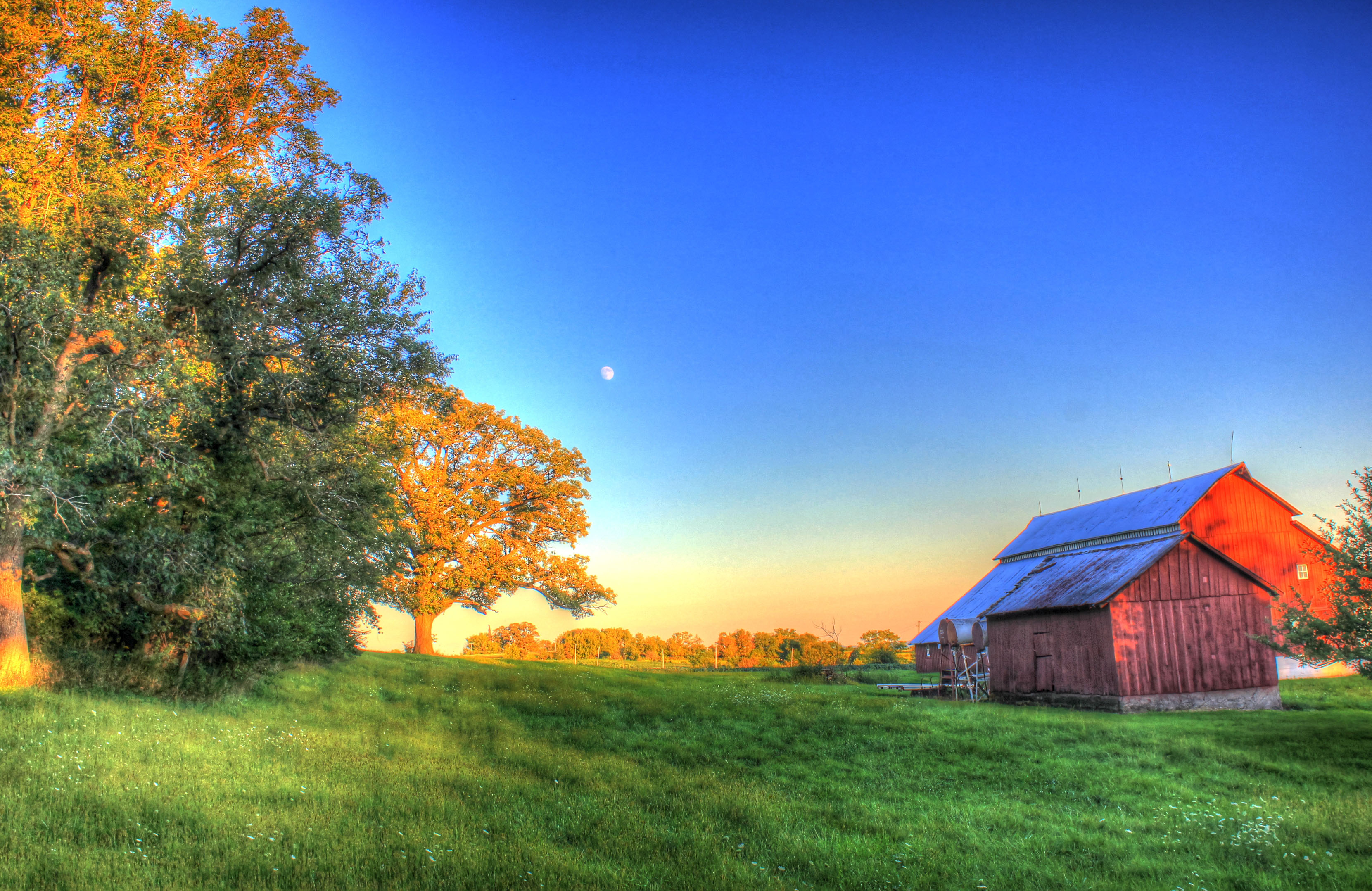 Barn And Landscape At Charles Mound Illinois Image Free
