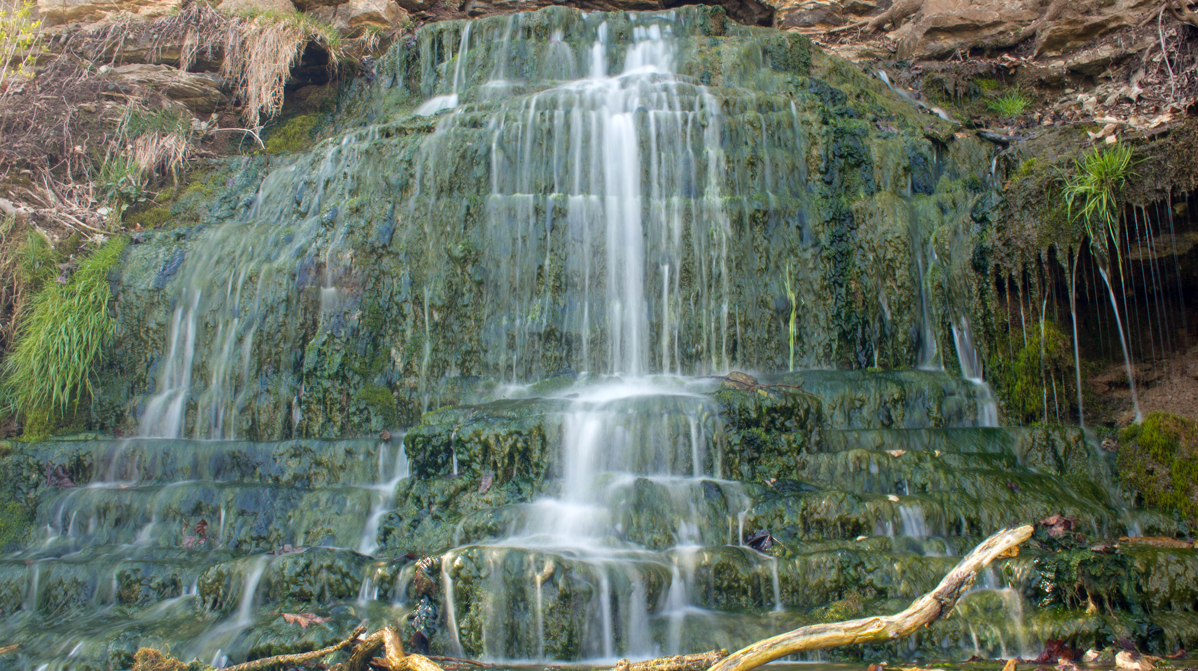 Beulah Spring Falls near Spook Cave, Iowa photo and