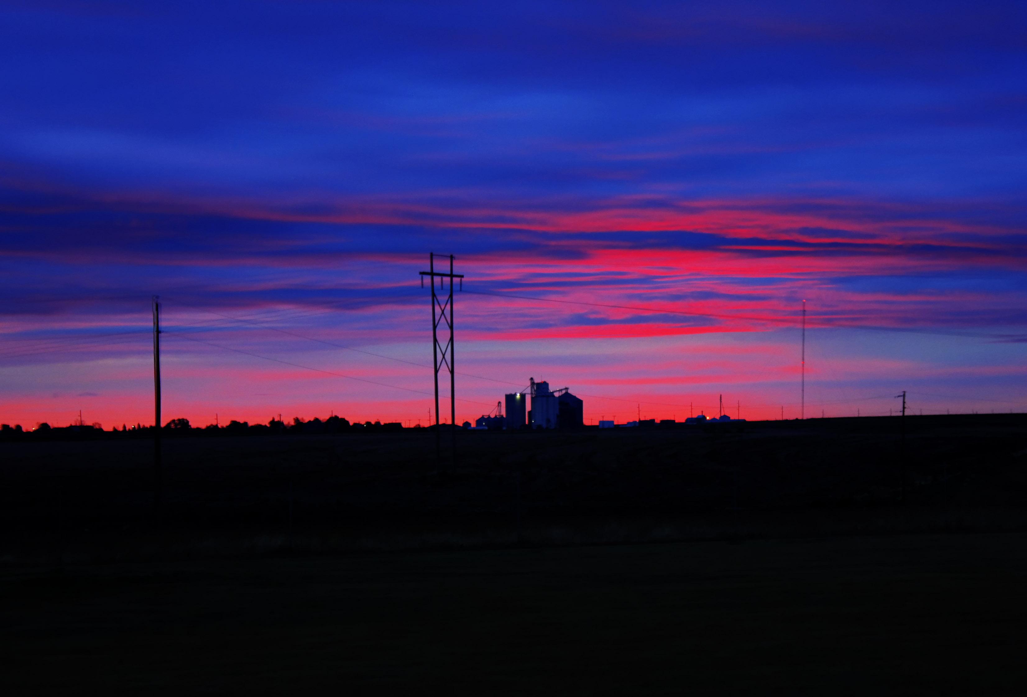 Dawn at the roadside at Mount Sunflower, Kansas image