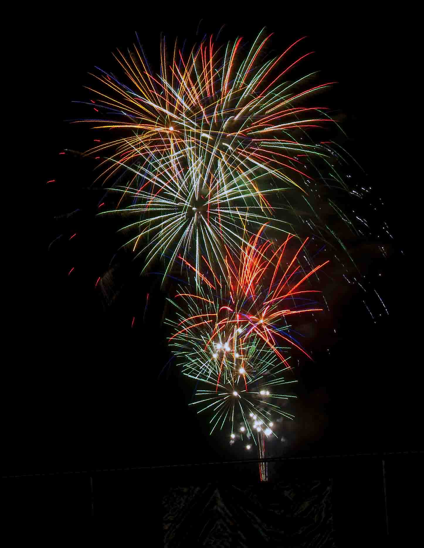 Fireworks In The Sky Bursting In Owensboro Kentucky Image