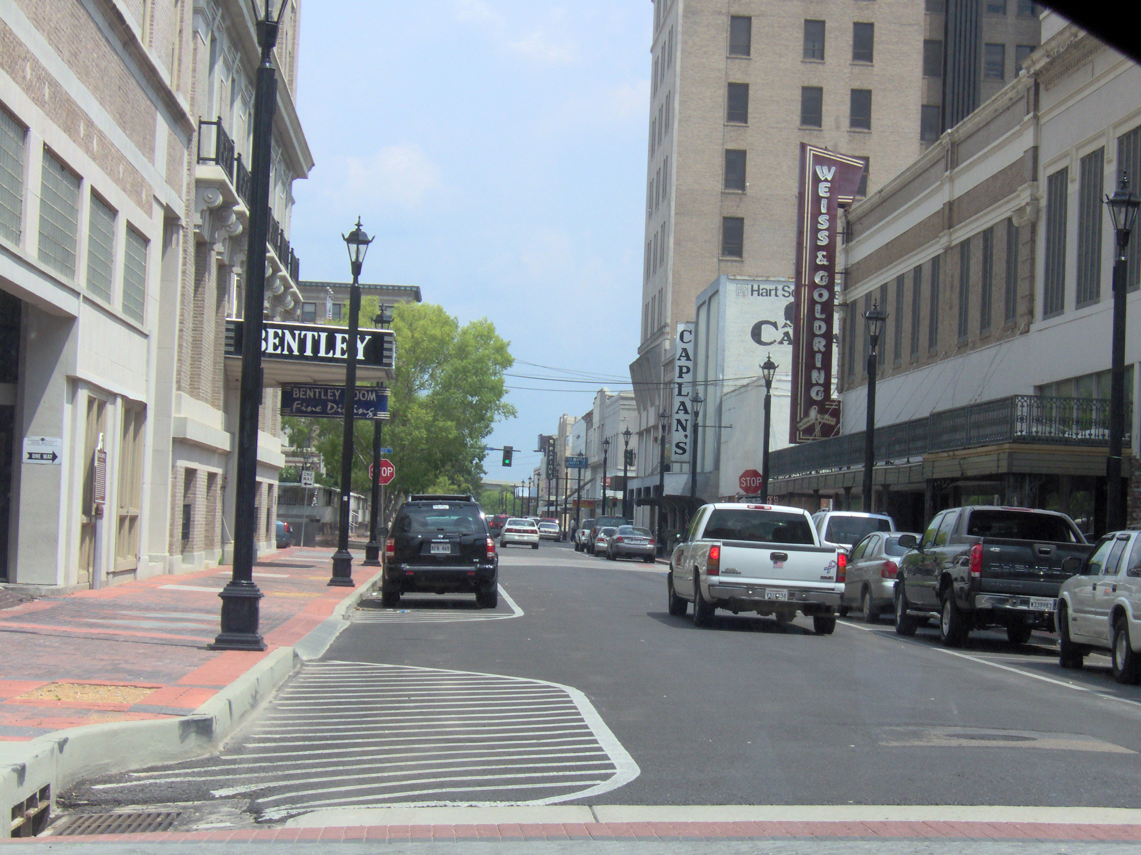 View Of 3rd Street In Downtown In Alexandria, Louisiana