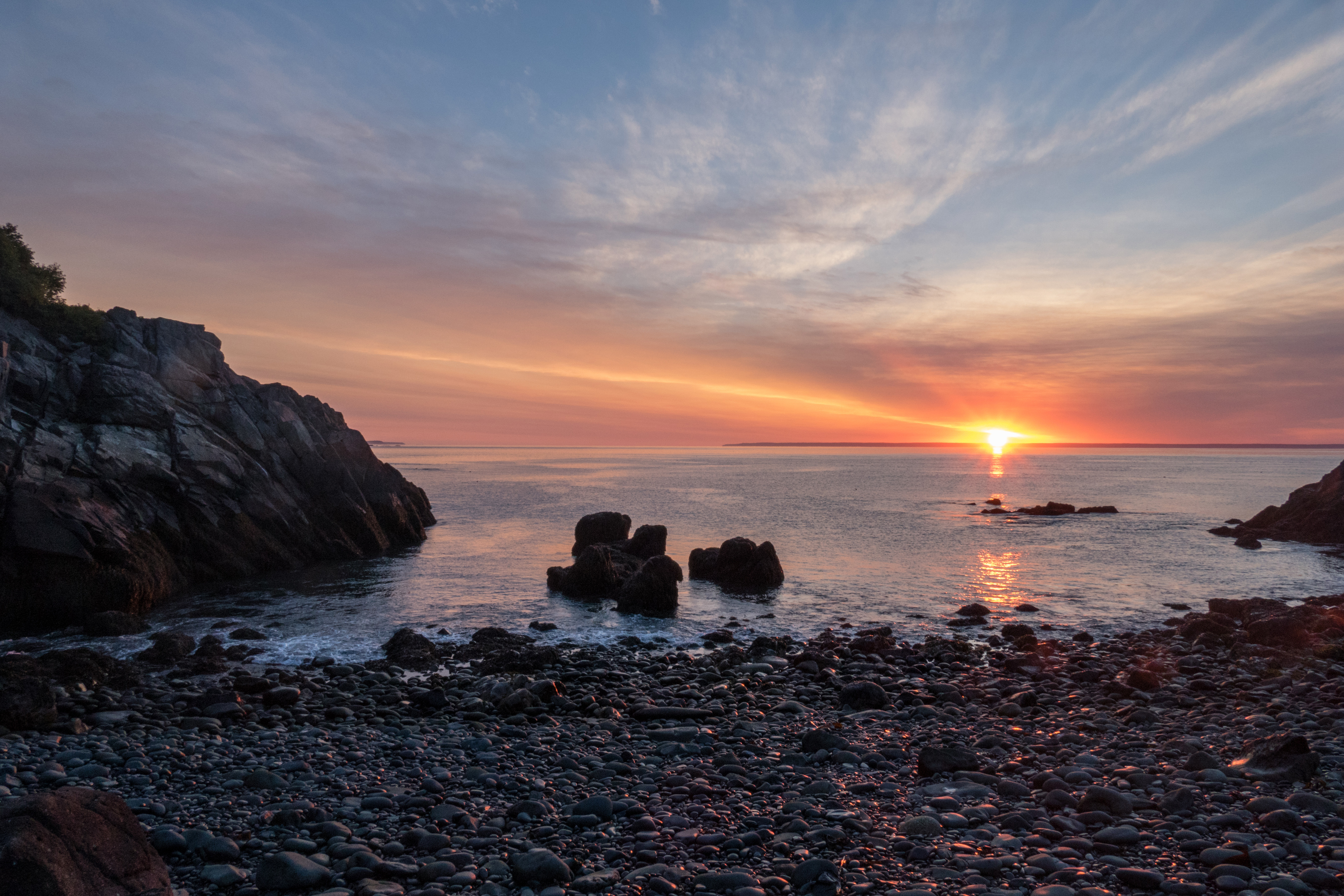 Sunrise at cutler public land preserve in maine image for Free land maine