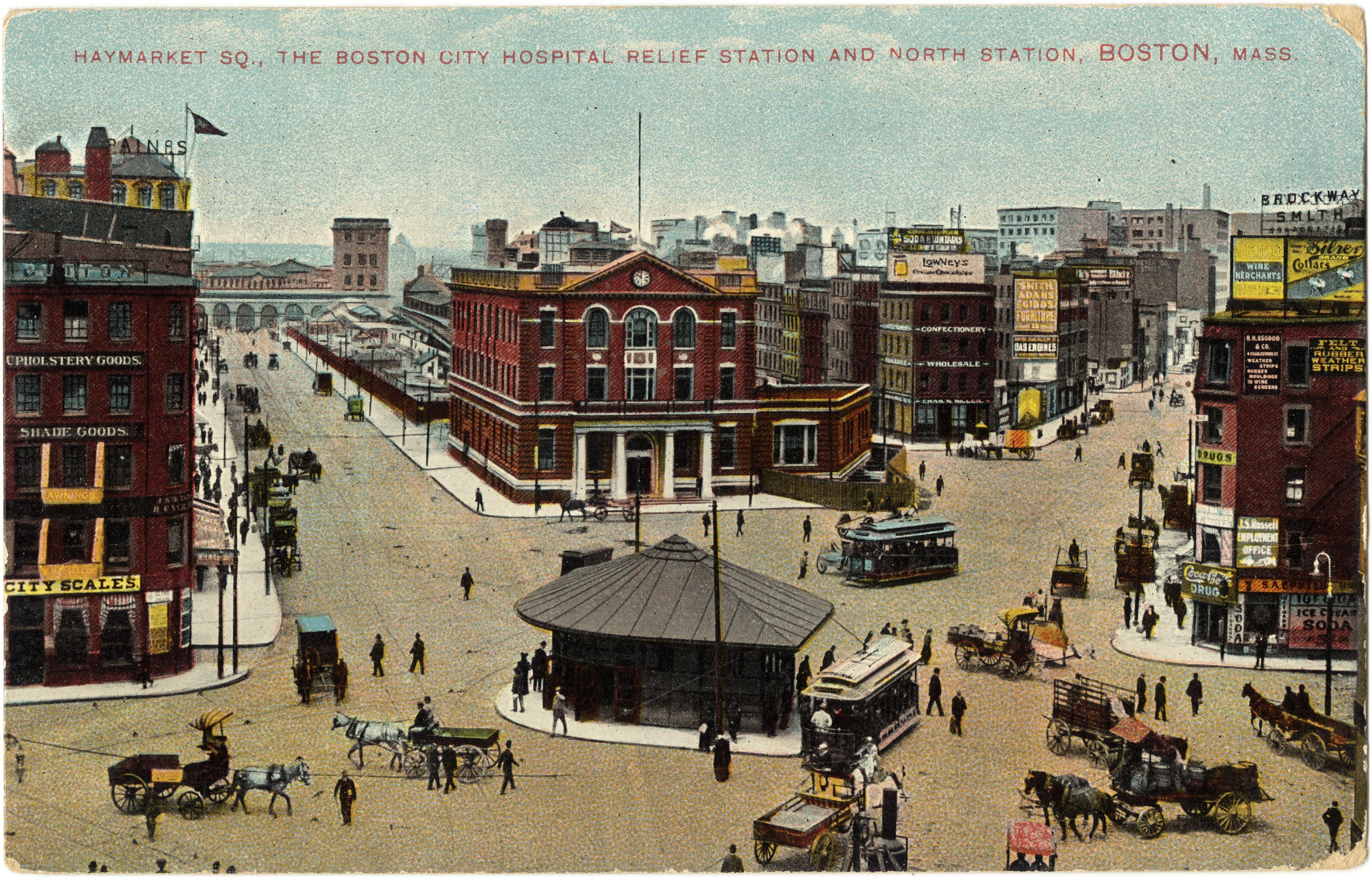 Haymarket Square In 1909 In Boston Massachusetts Image