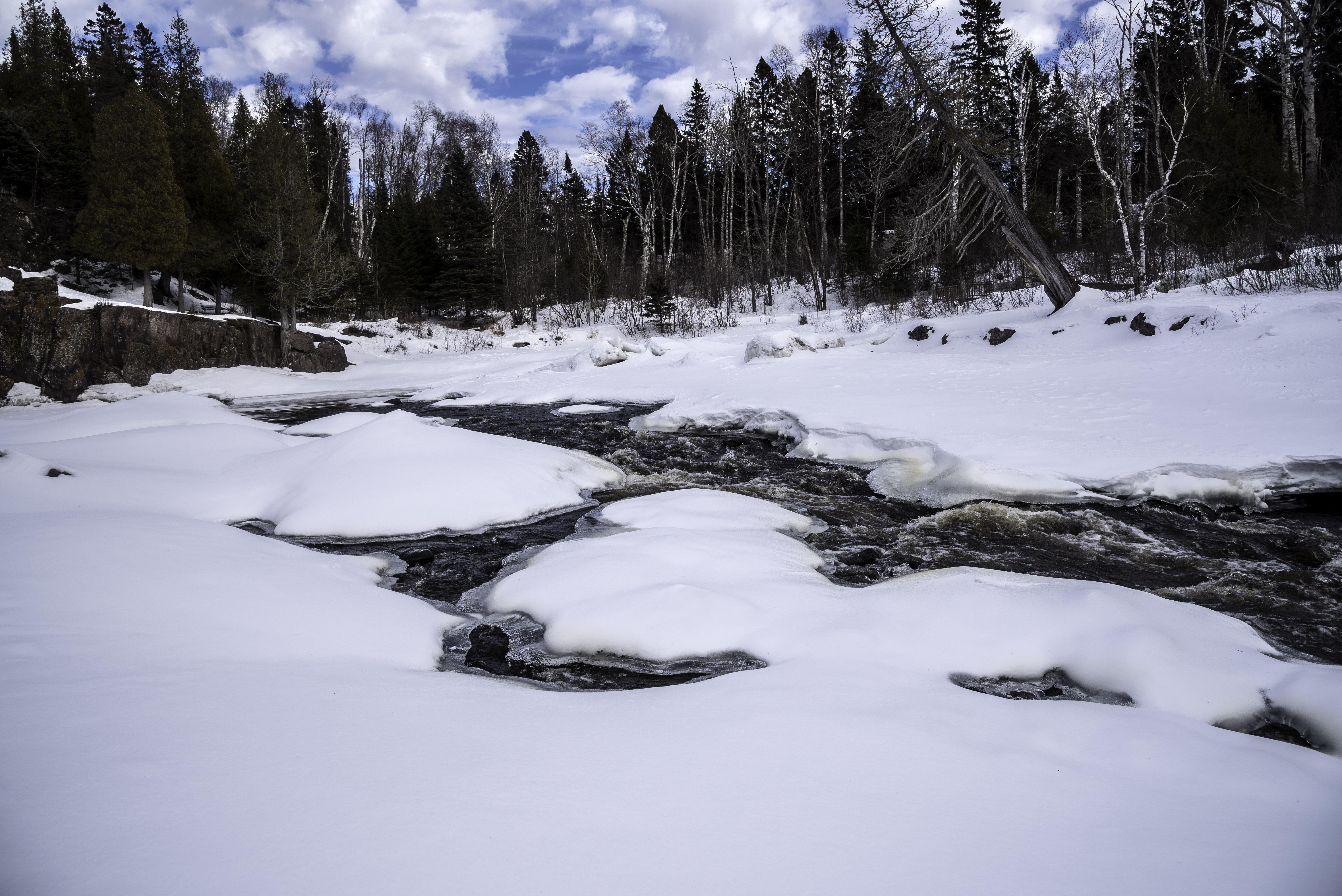 Rapids In The Snowy River In Temperance River State Park Minnesota Image Free Stock Photo