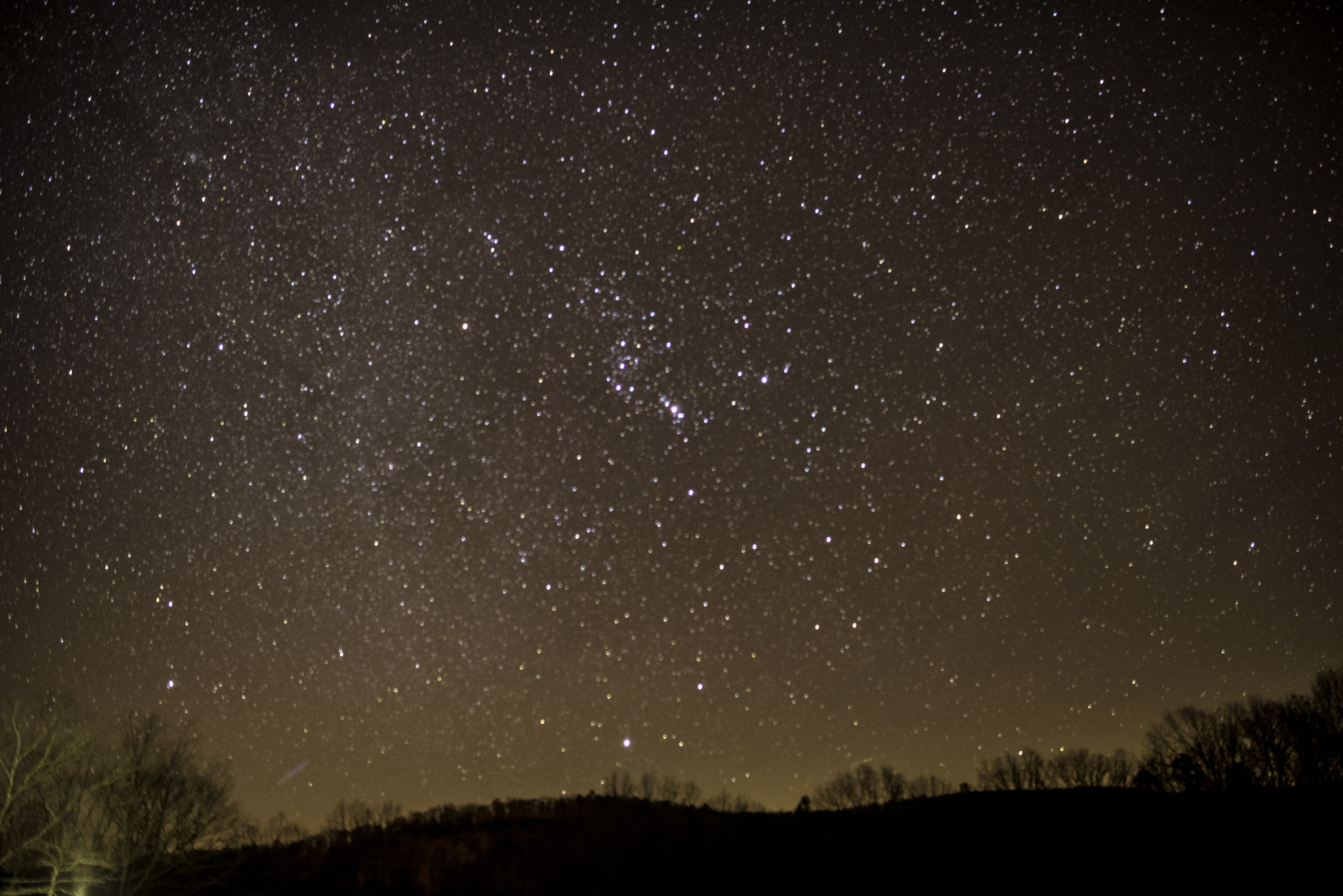 Lots of Stars night Sky with hills in Echo Bluff State ...
