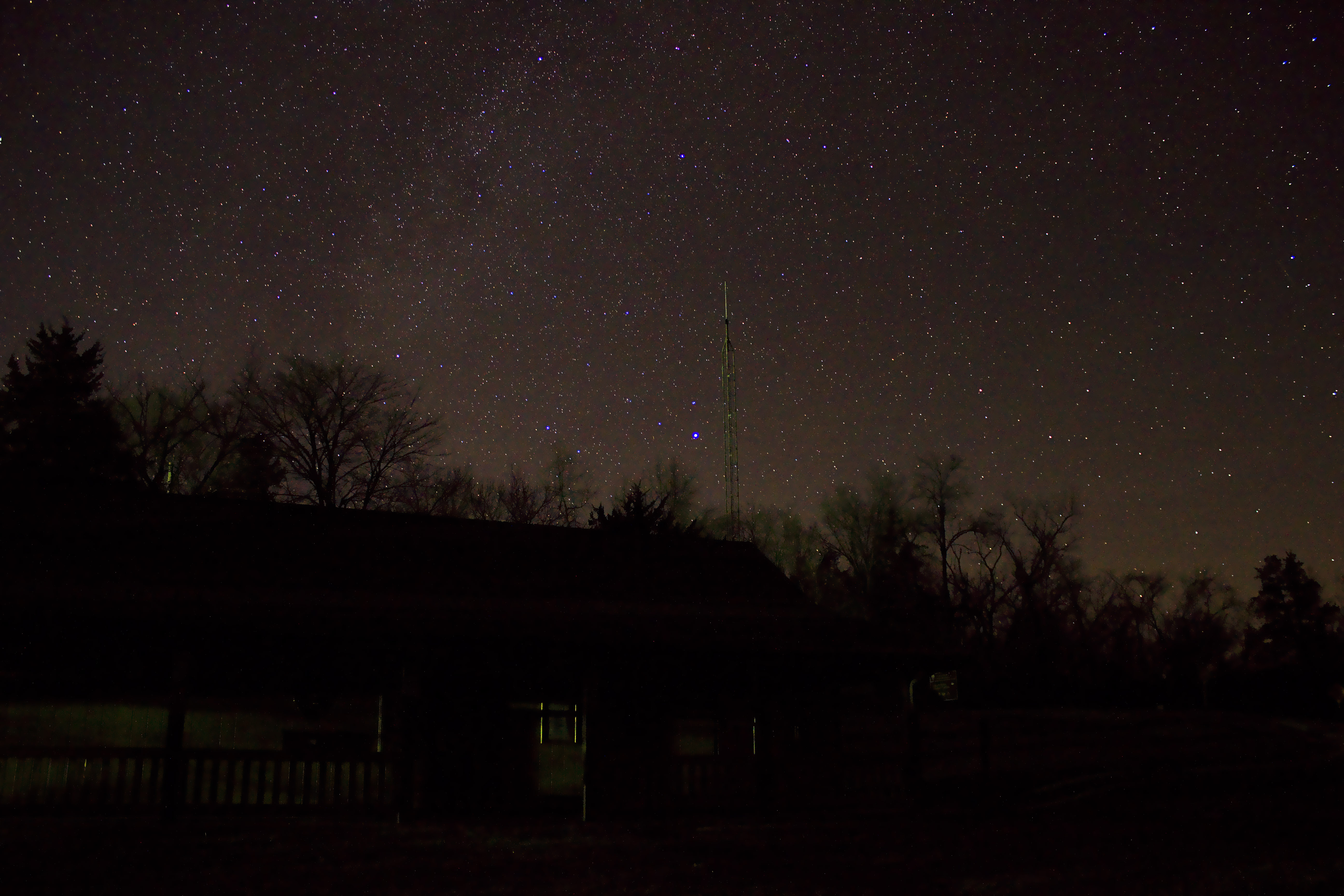 Stars above the Cabin