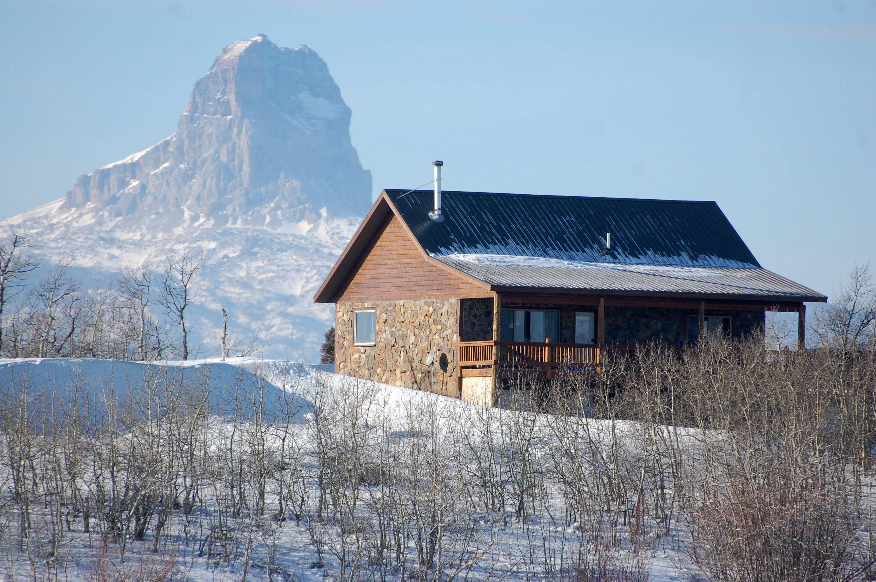Free Stock Photo Of Cabin In The Winter And Landscape At