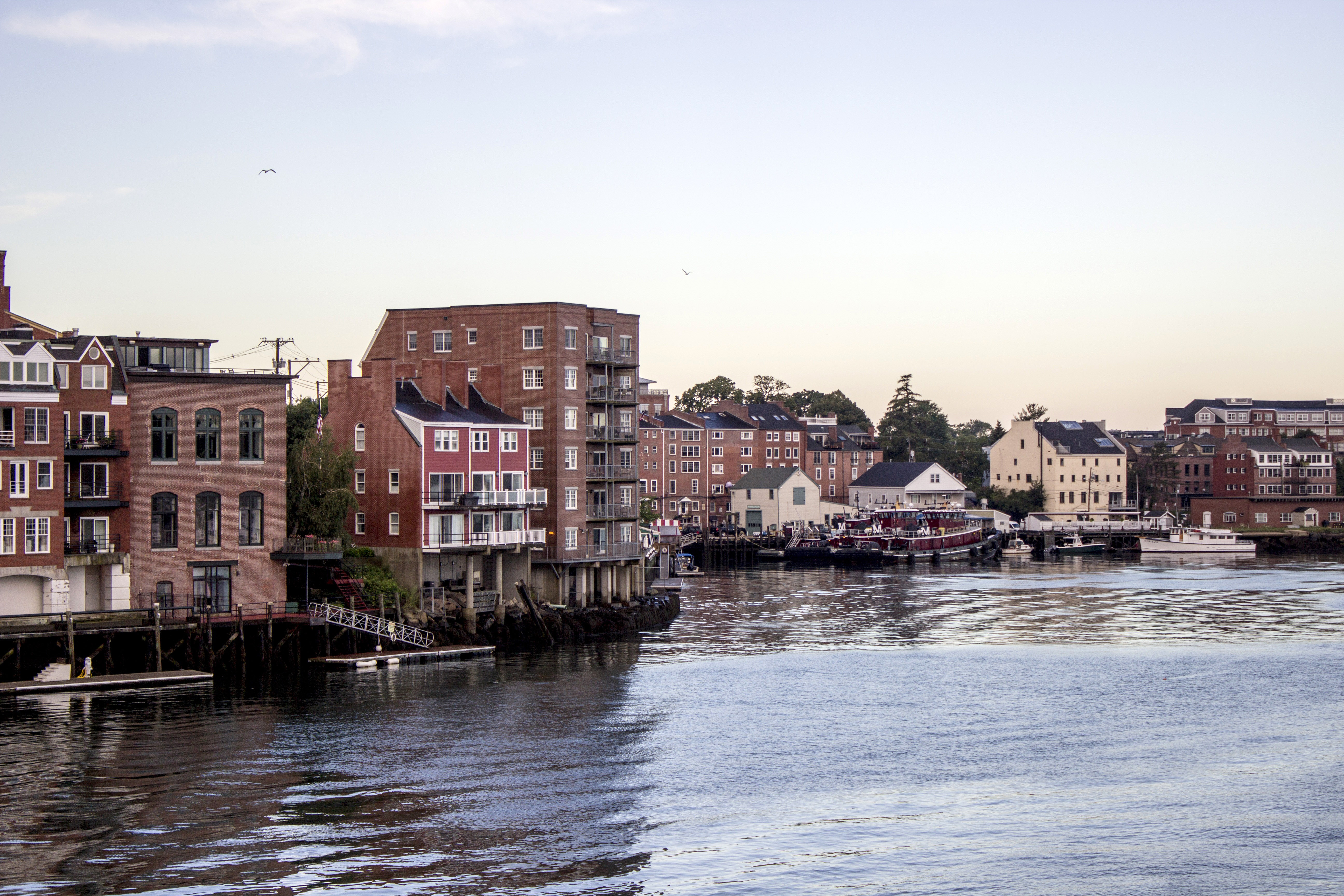 Downtown Portsmouth New Hampshire On The Waterfront Image Free Stock Photo Public Domain
