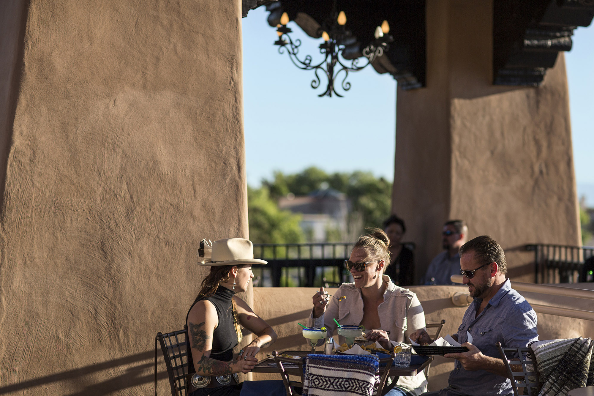 Site Santa Fe >> People Dining at the Bell Tower restaurant in Santa Fe, New Mexico image - Free stock photo ...