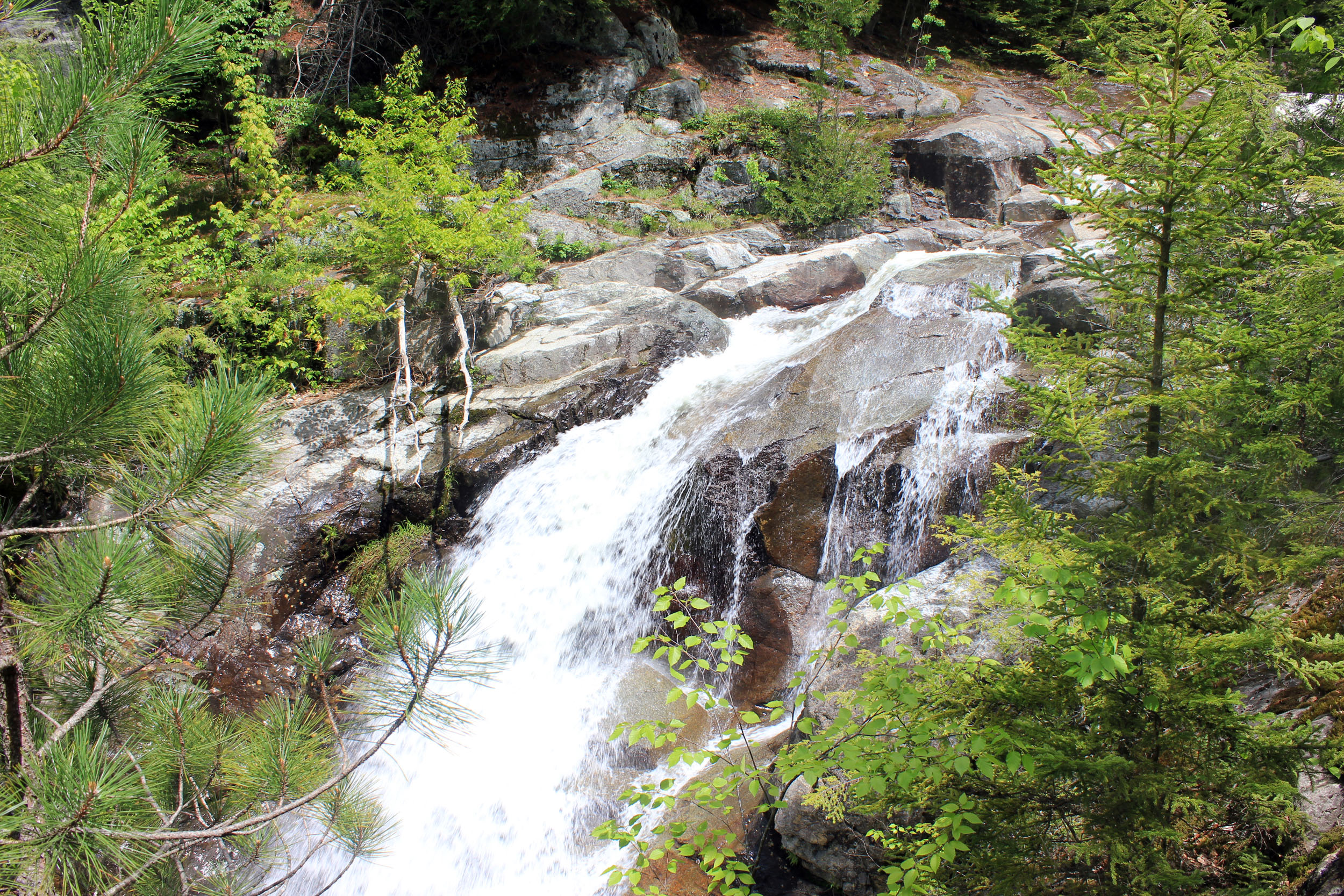 Top of the lower falls in the Adirondack Mountains, New