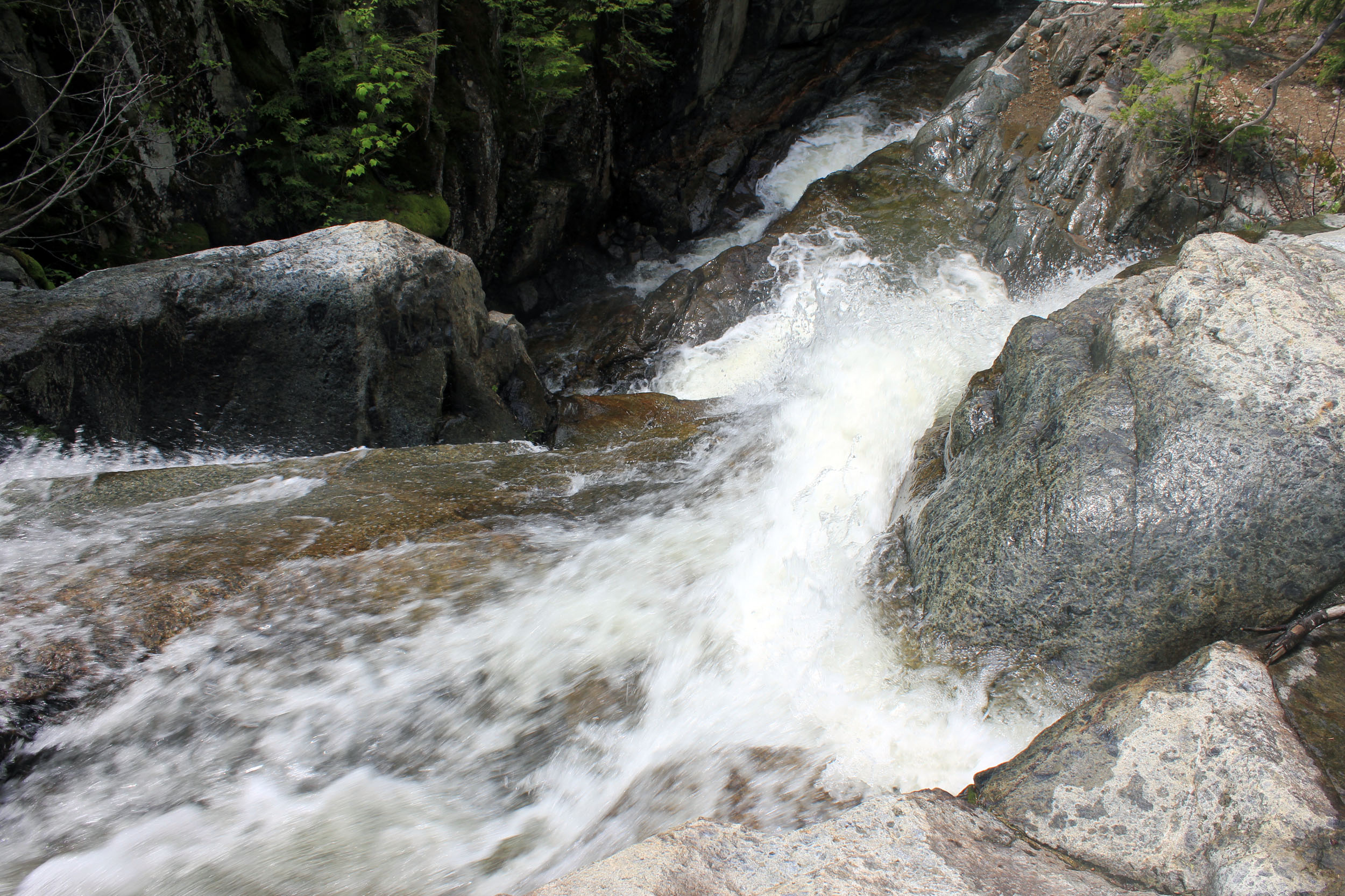 File:Flume Falls (West Branch of the AuSable River