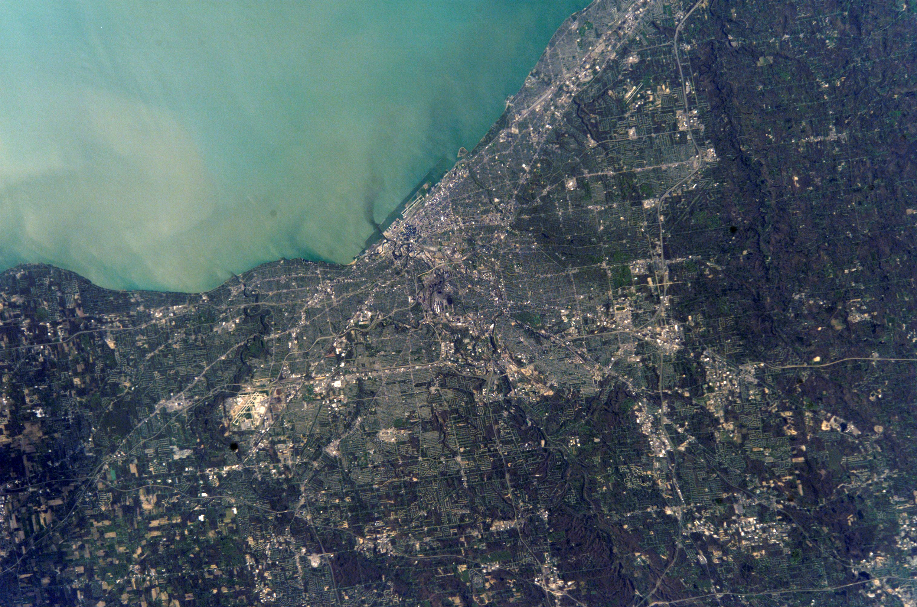 Topography of Cleveland  Ohio  Photo by NASA. Topography of Cleveland  Ohio   Free Public Domain Stock Photo