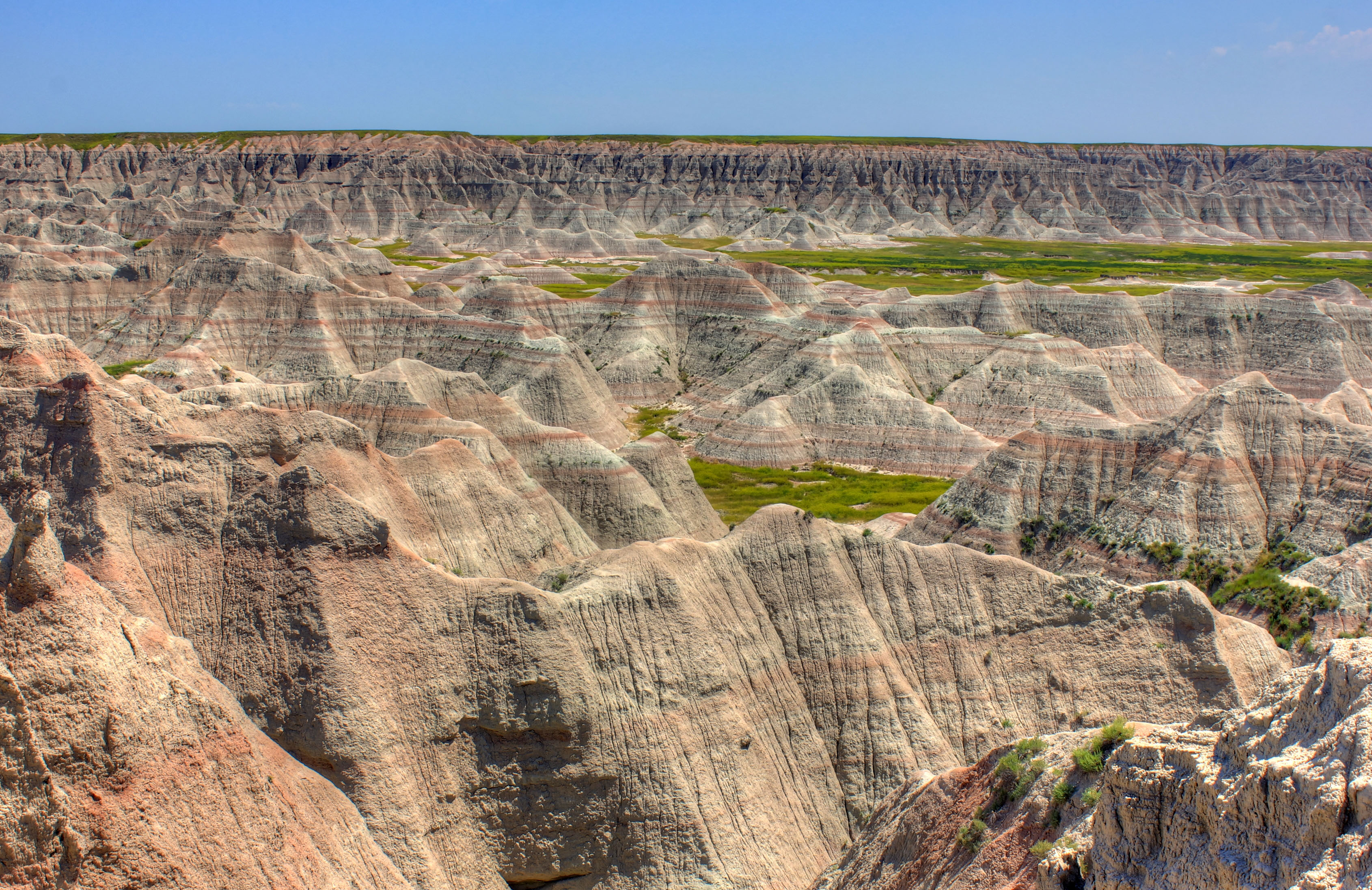 Closer Up of Badlands Formations