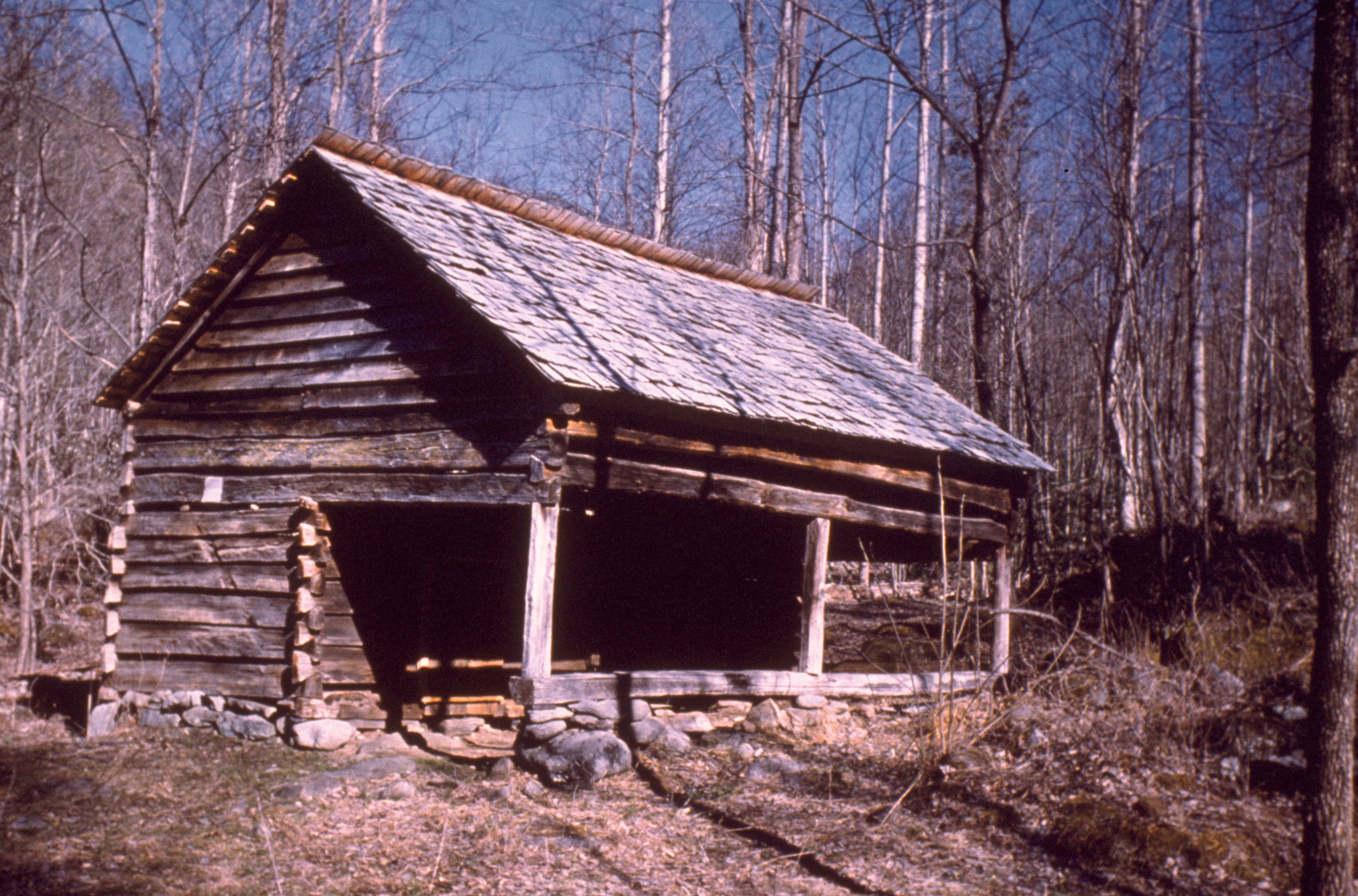Log Cabin In Great Smoky Mountains National Park