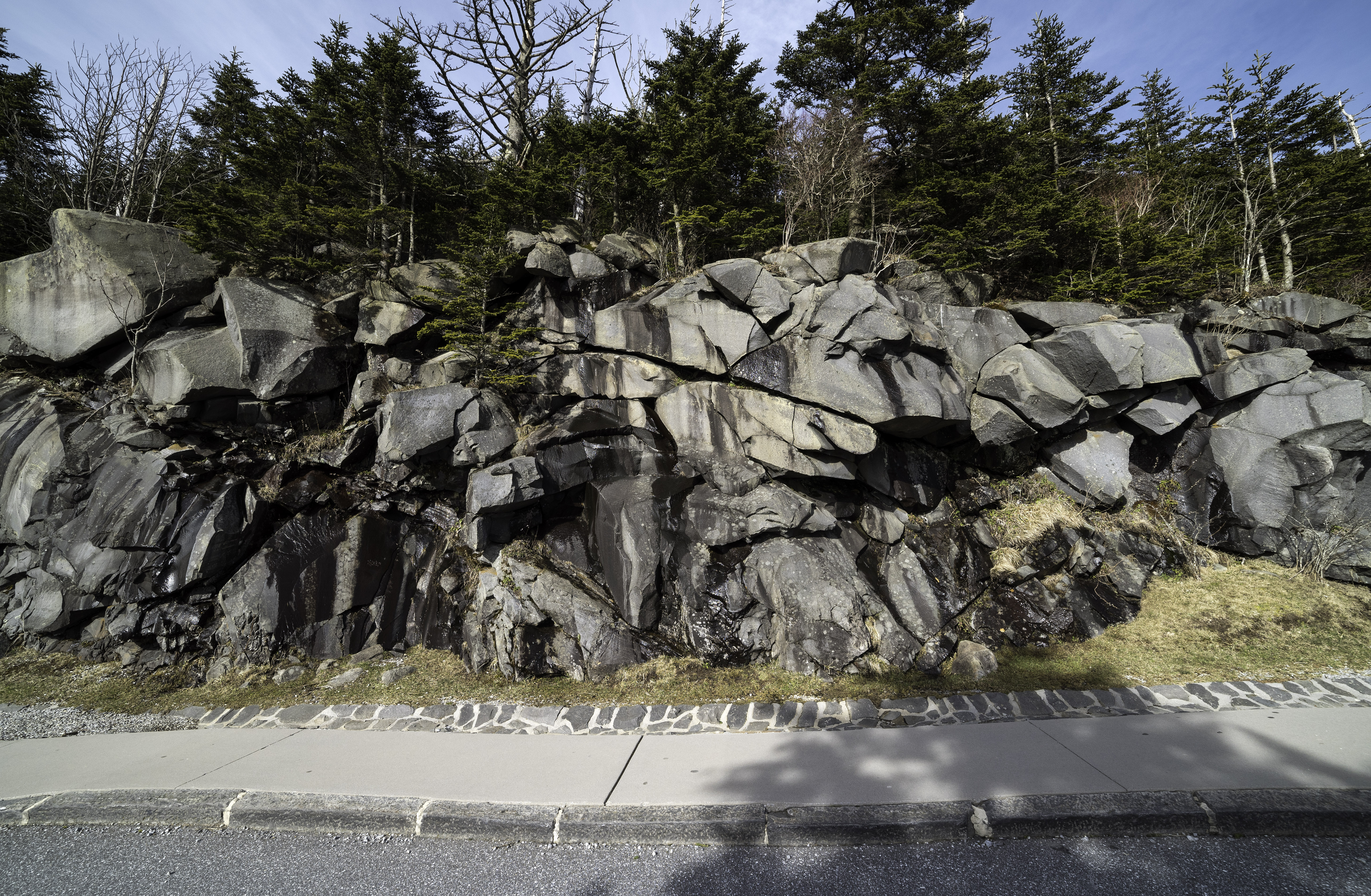 Rock Formations near Clingman's Dome, Great Smoky Mountains ...