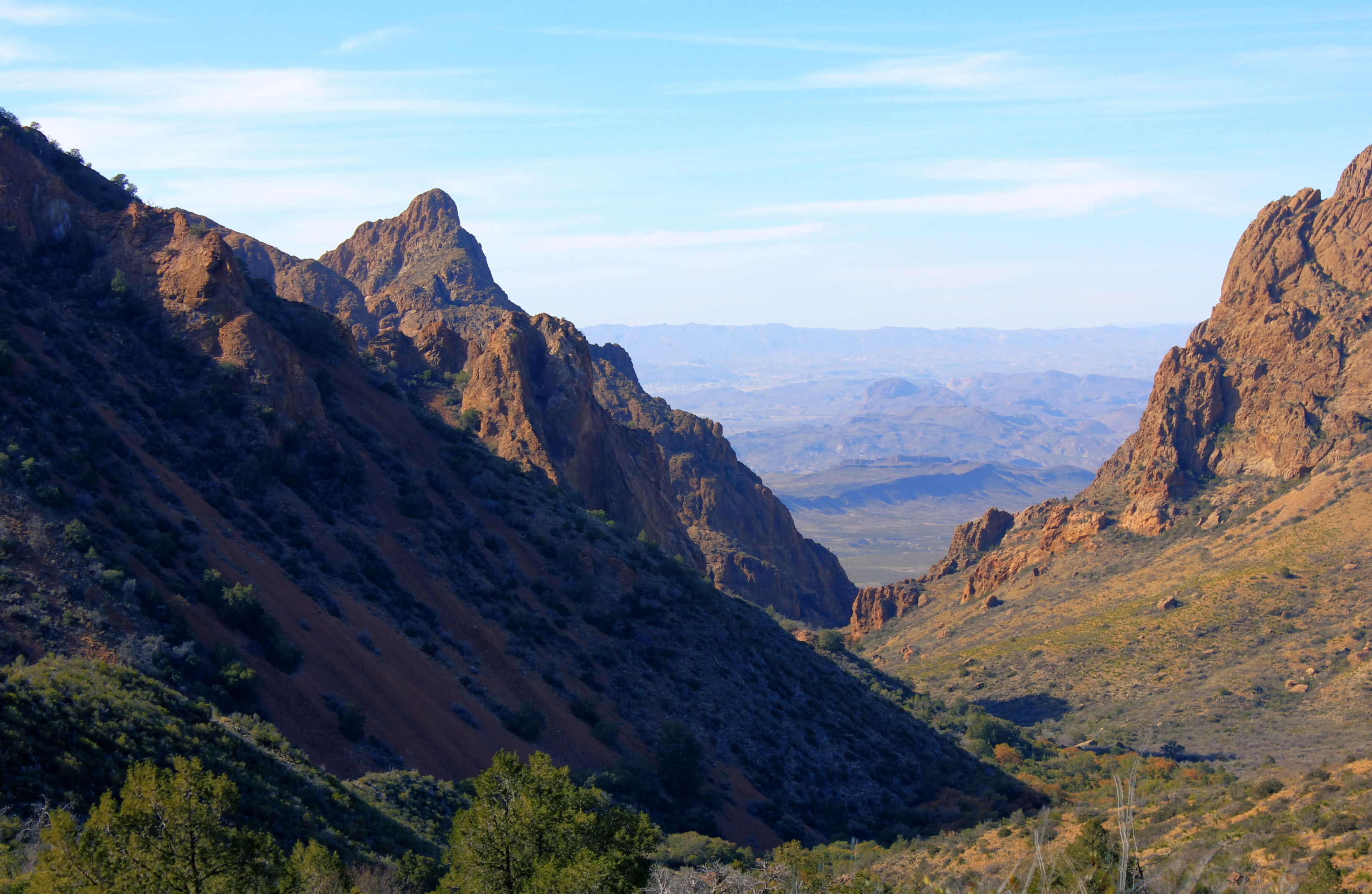 View of the high Chisos at Big Bend National Park, Texas ...