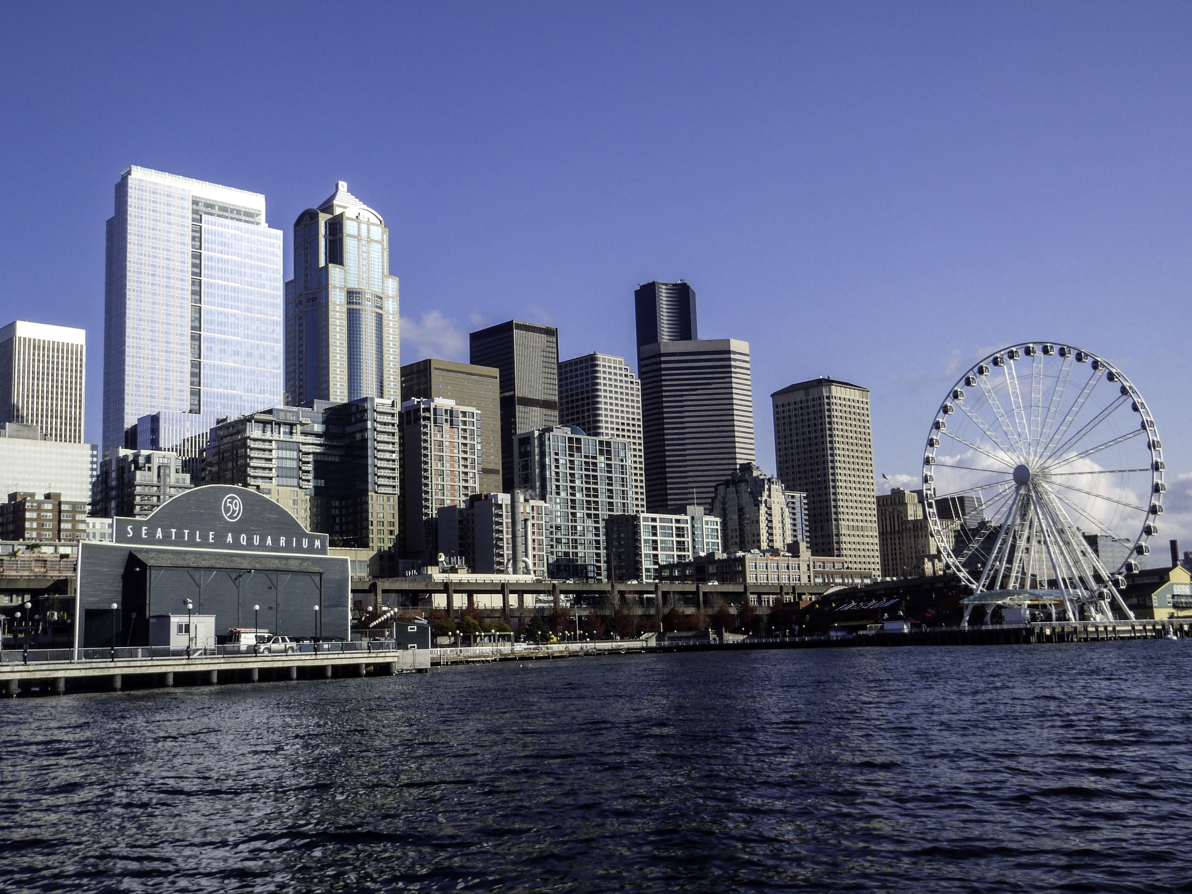 How Much Is Tax >> Seattle Skyline across the water in Washington image ...