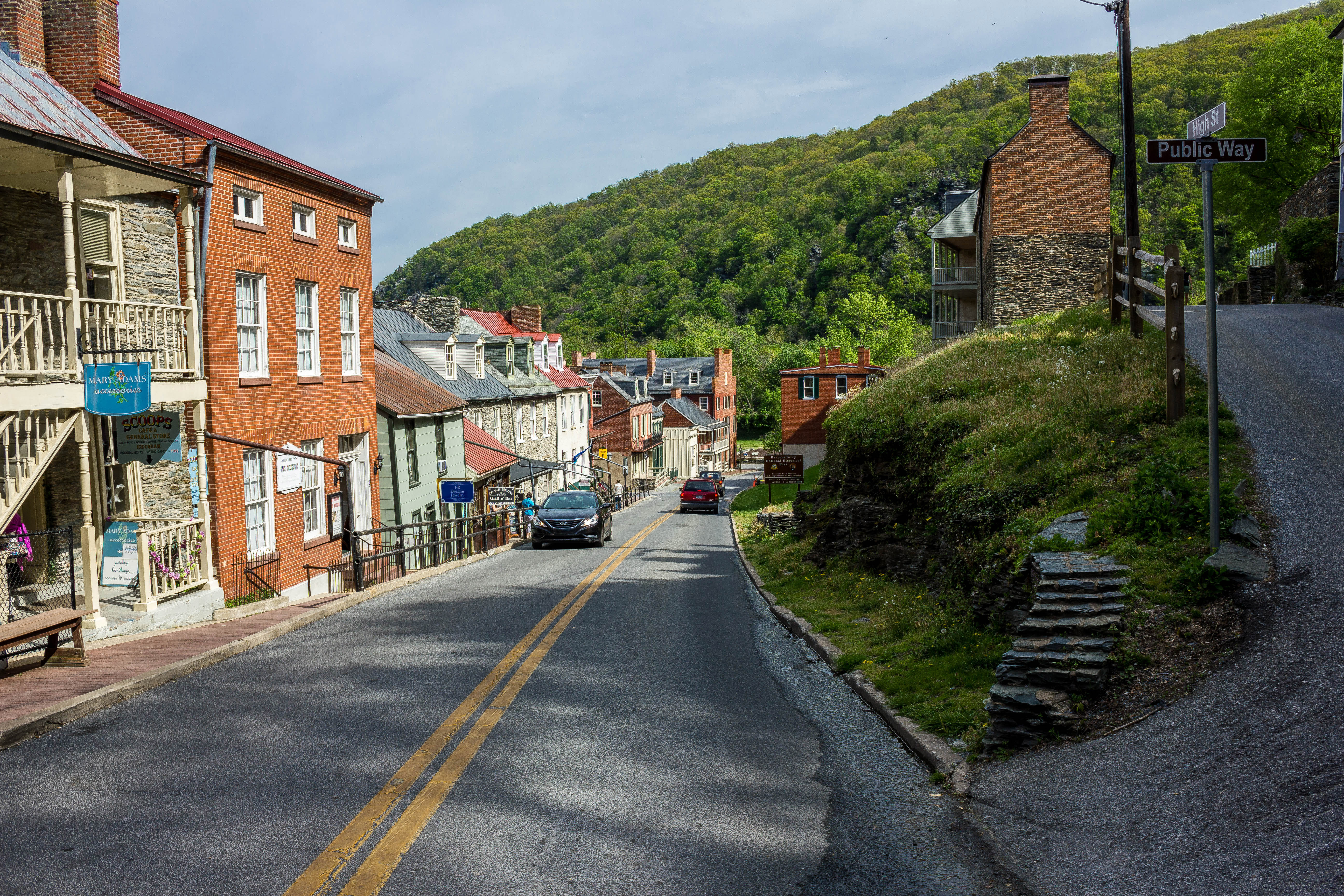 Downhill Cityscape View At Harper S Ferry West Virginia Image Free Stock Photo Public