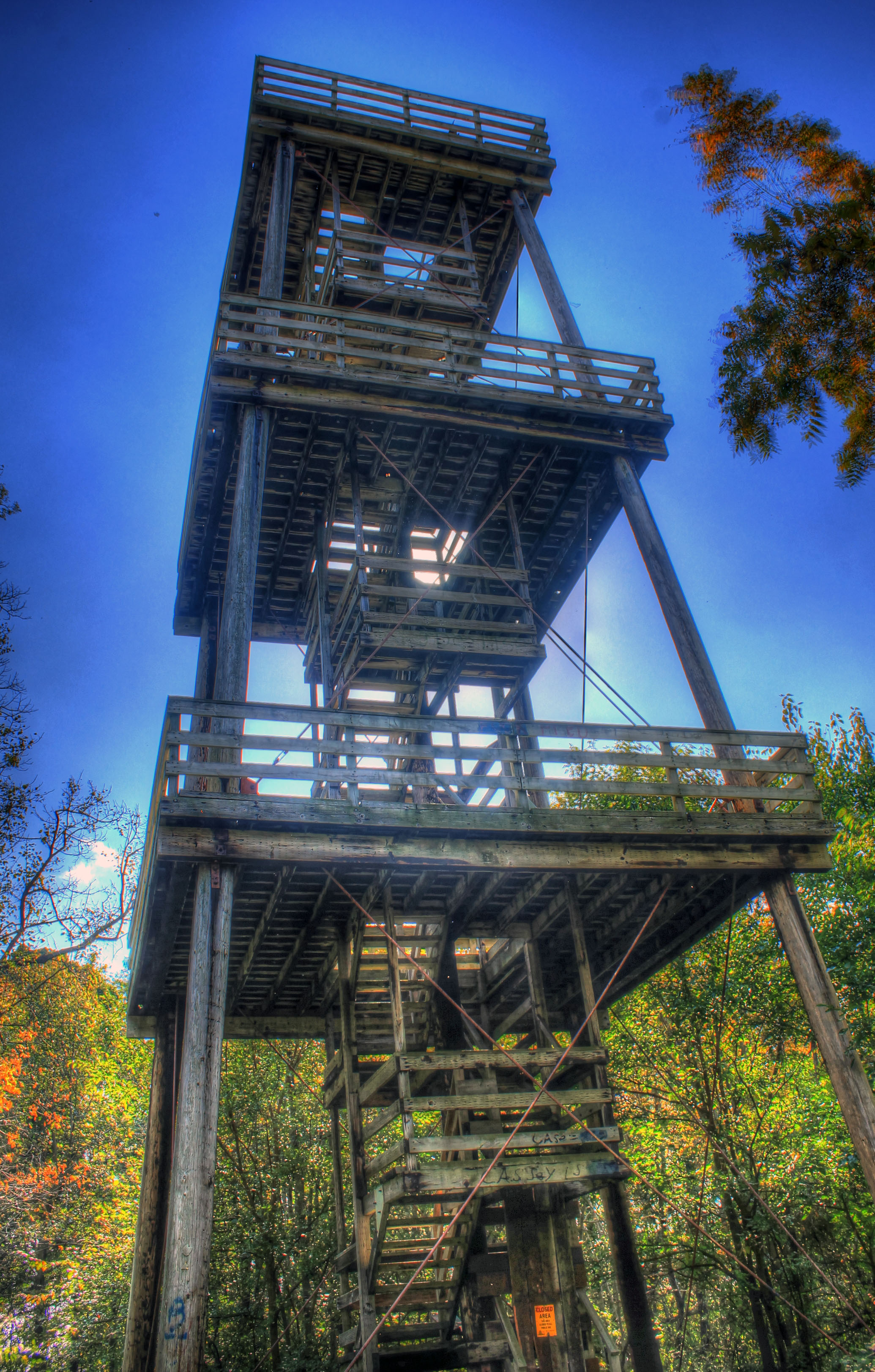 The Observation Tower At Belmont Mounds State Park