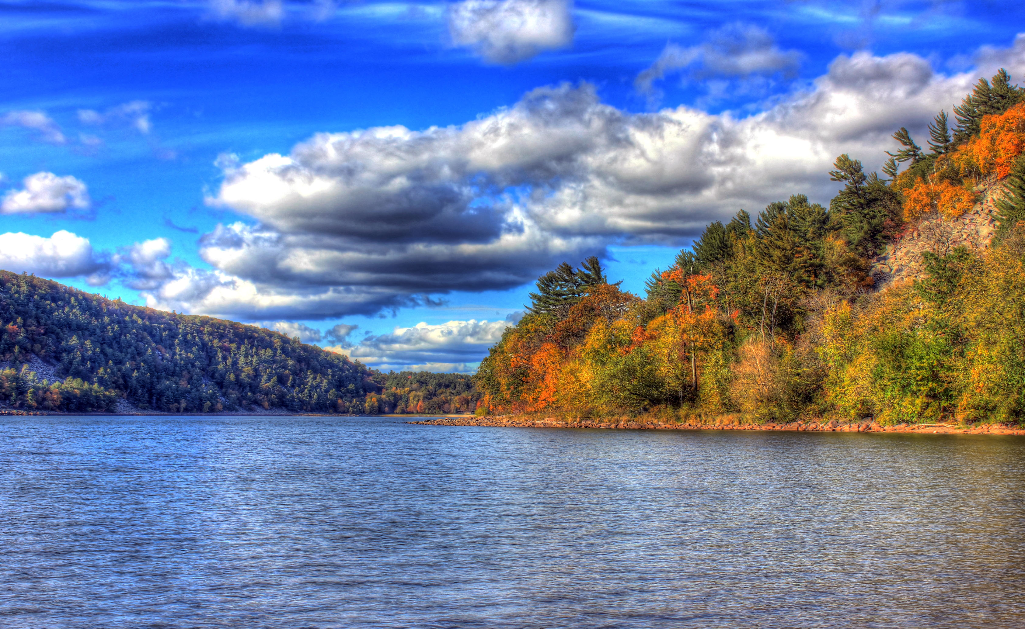 Forest, Lake, And Clouds At Devil's Lake State Park