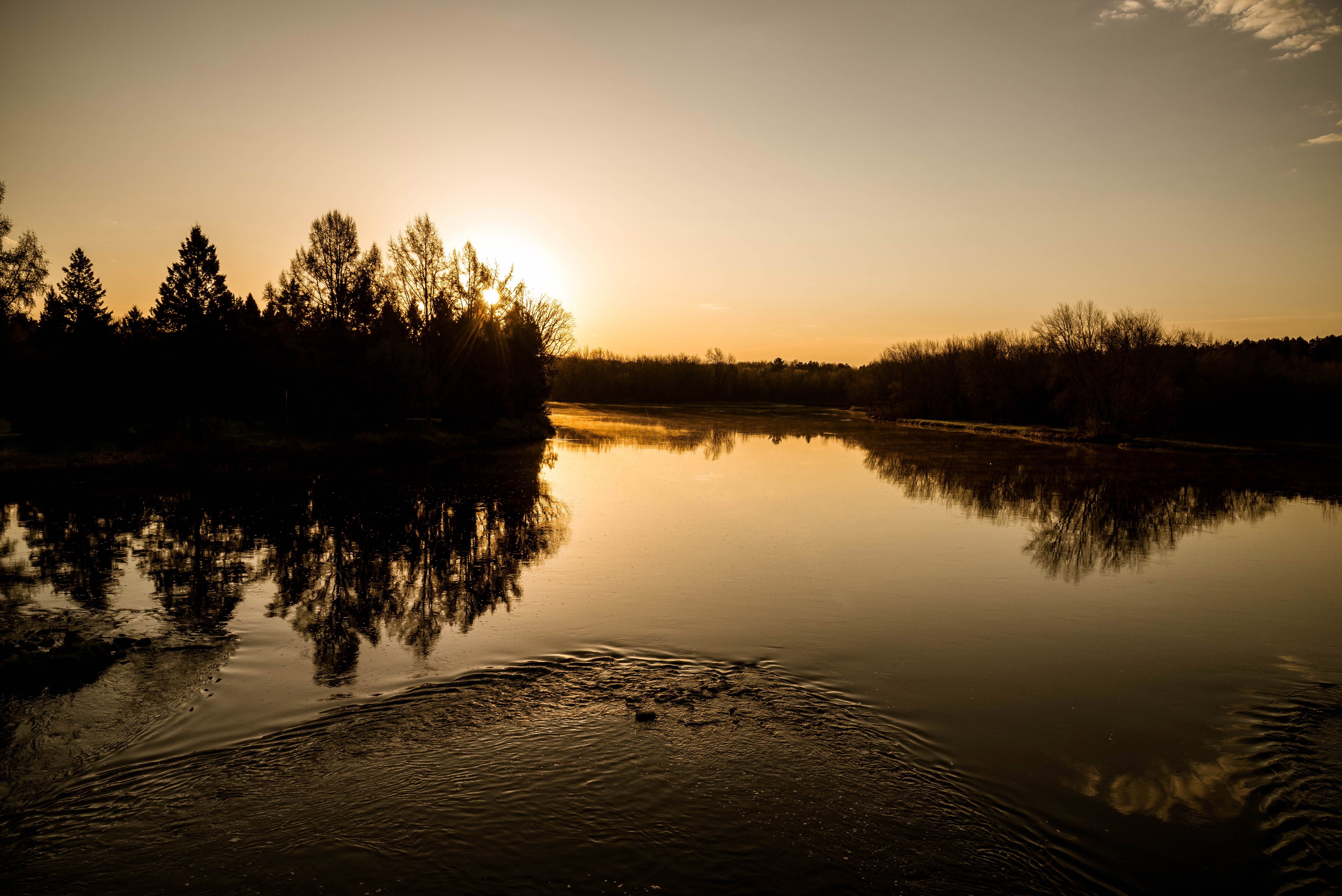 nature scenery at the flambeau river image free stock