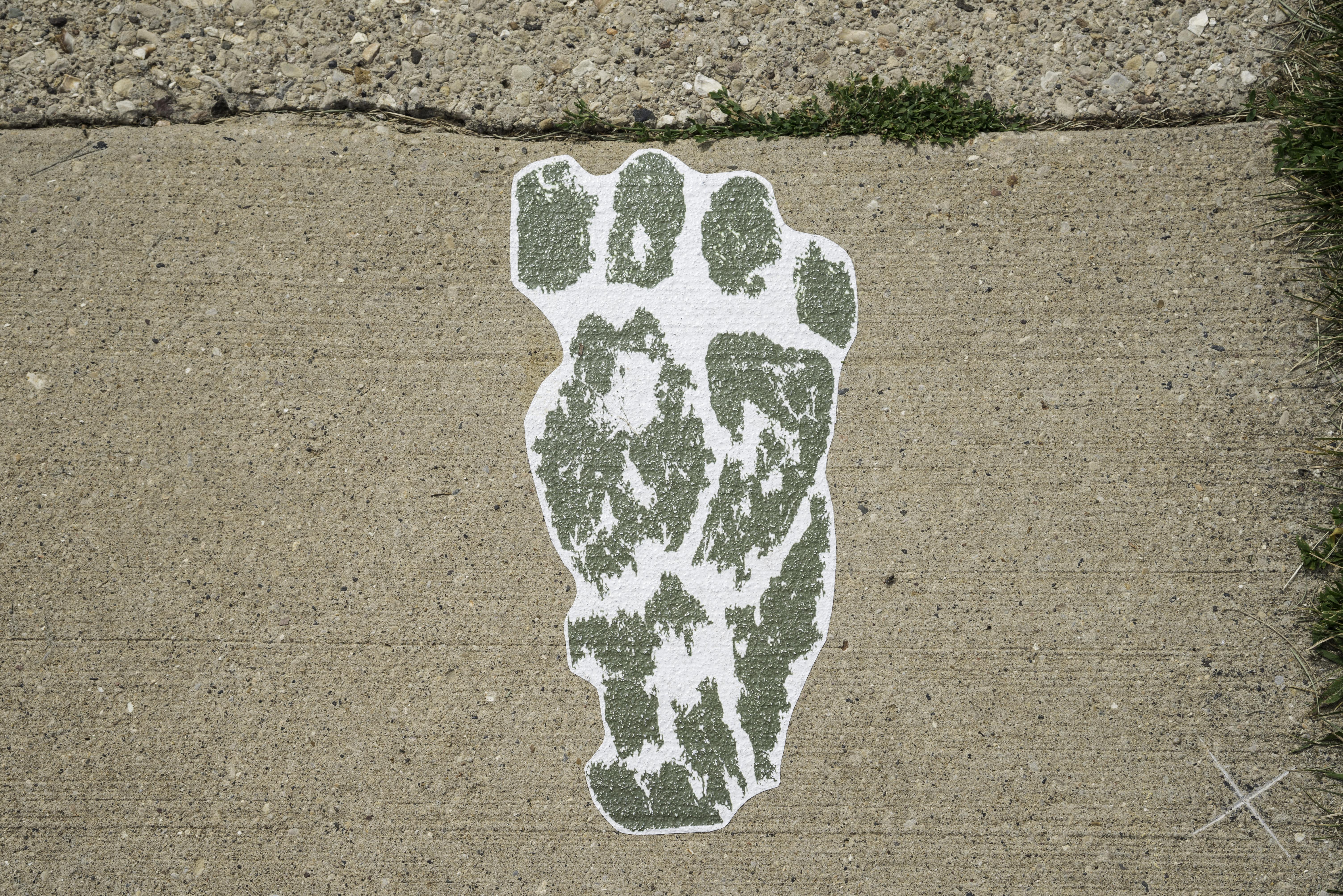 Troll Footprint on the sidewalk in Mount Horeb image - Free