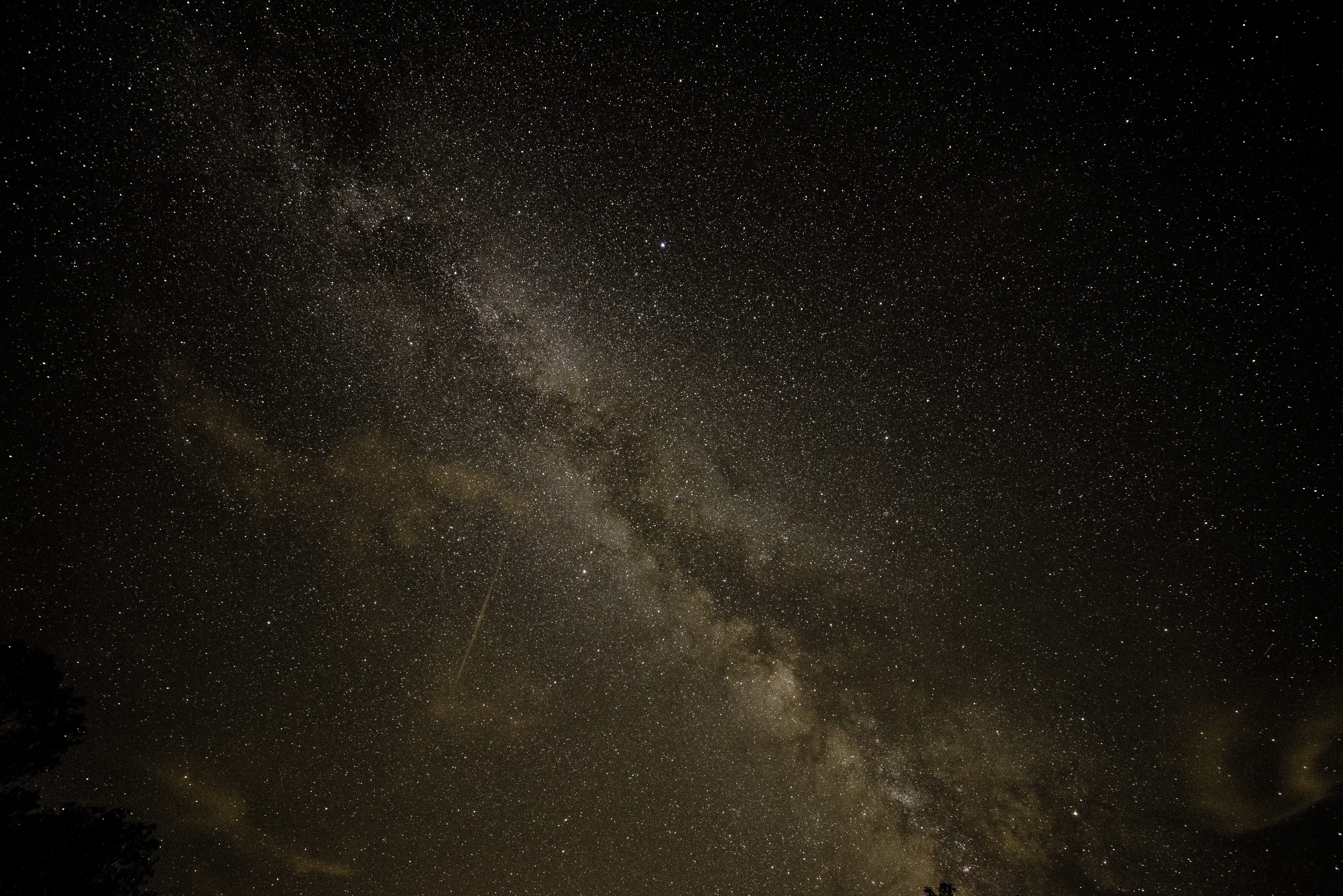 Milky Way Stretched Out Across The Sky At Meadow Valley Wisconsin