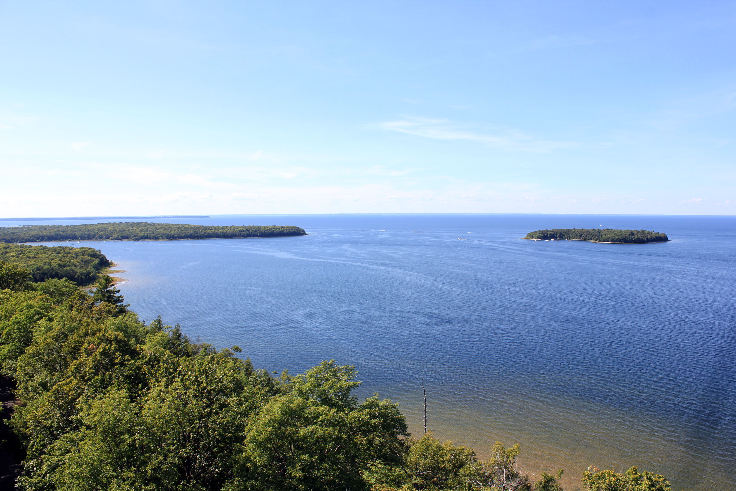View from the top of the tower, Peninsula State Park