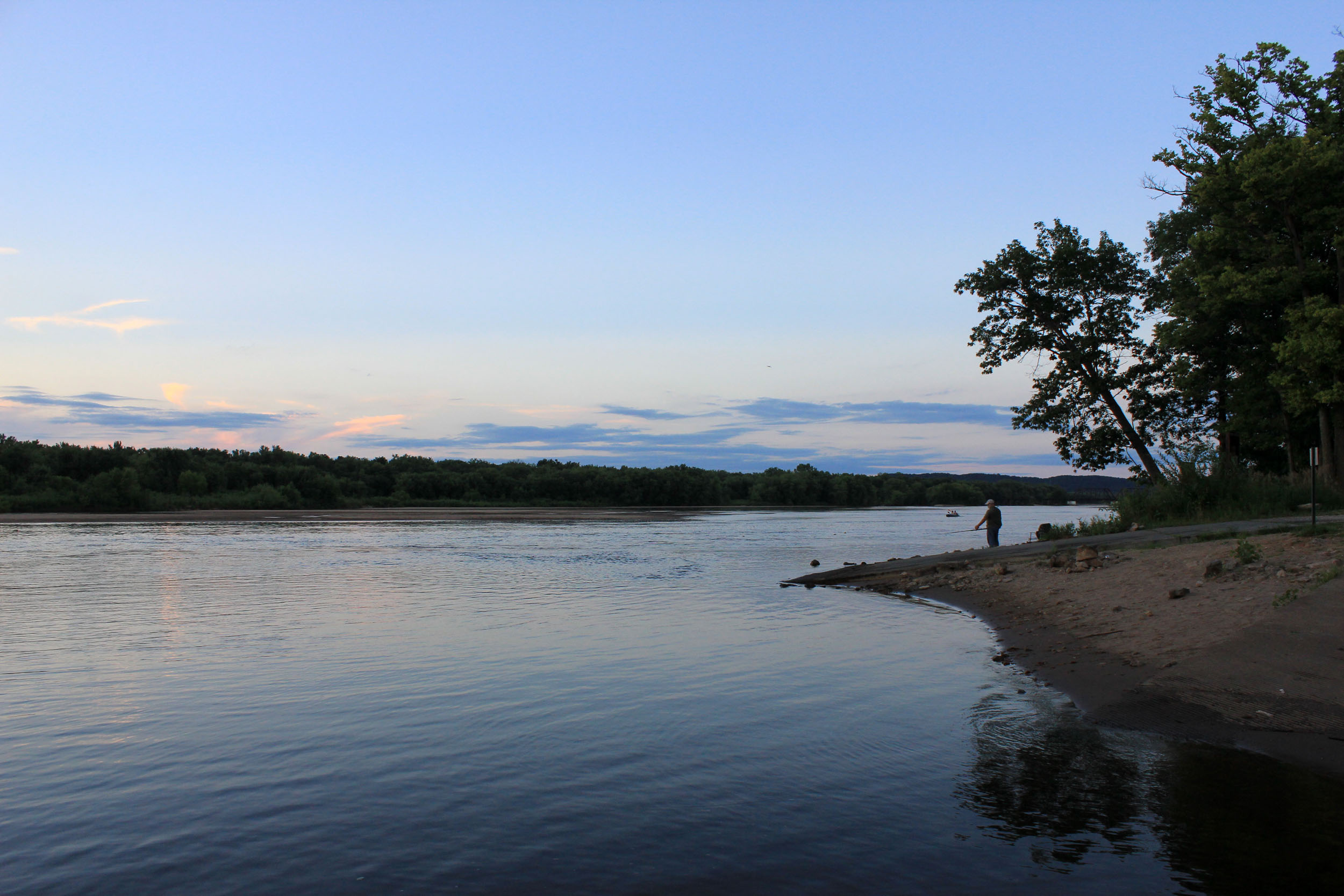 Wisconsin River at Dusk
